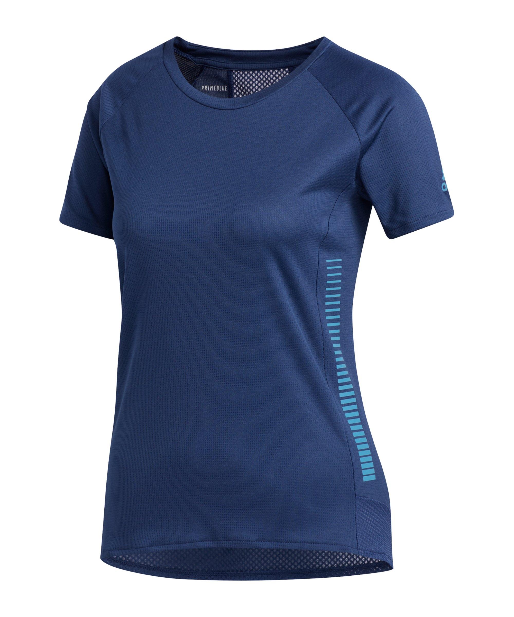 adidas 25/7 T-Shirt Running Damen Blau - blau