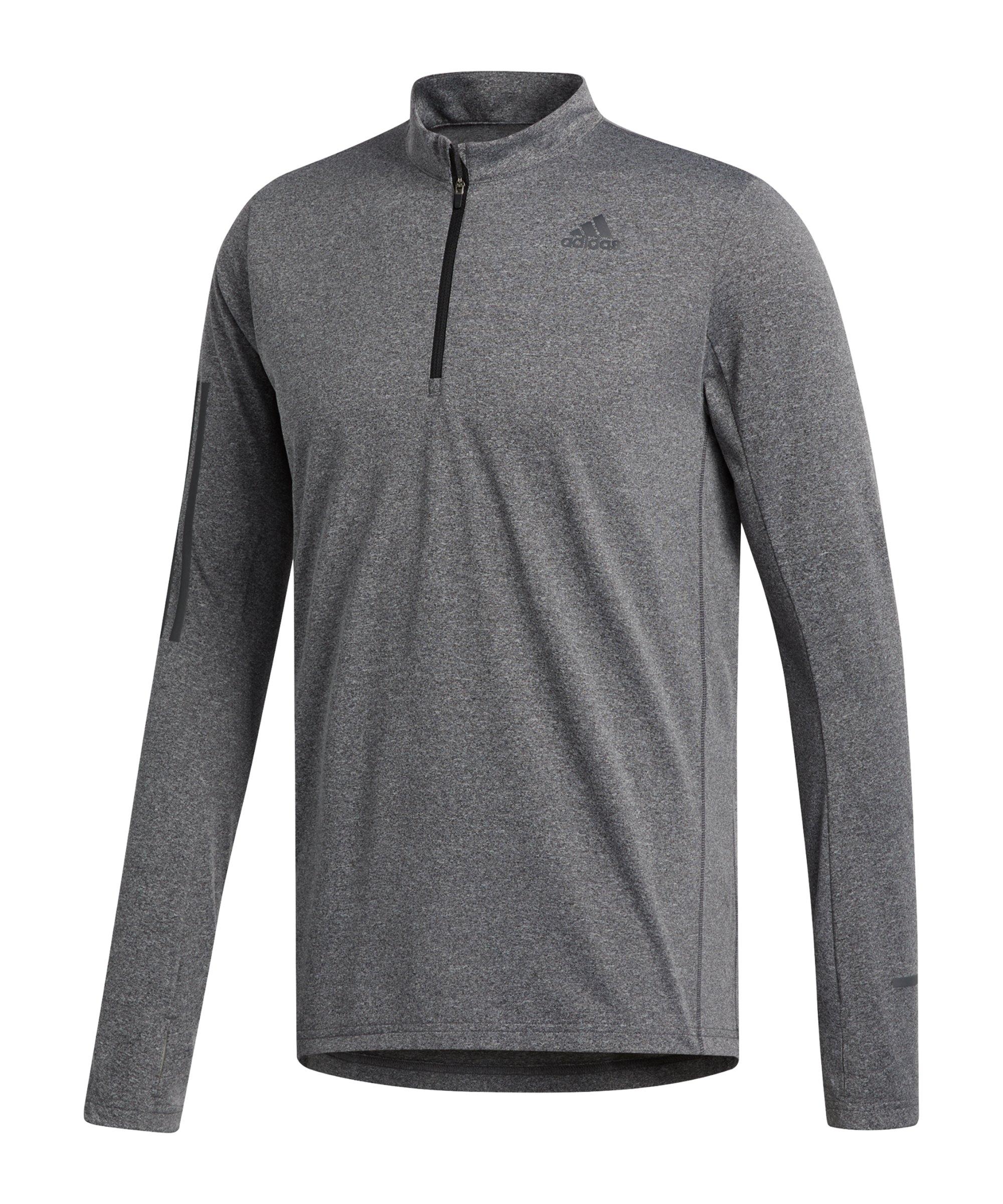 adidas Own the Run 1/2 Zip Shirt Running Grau - grau