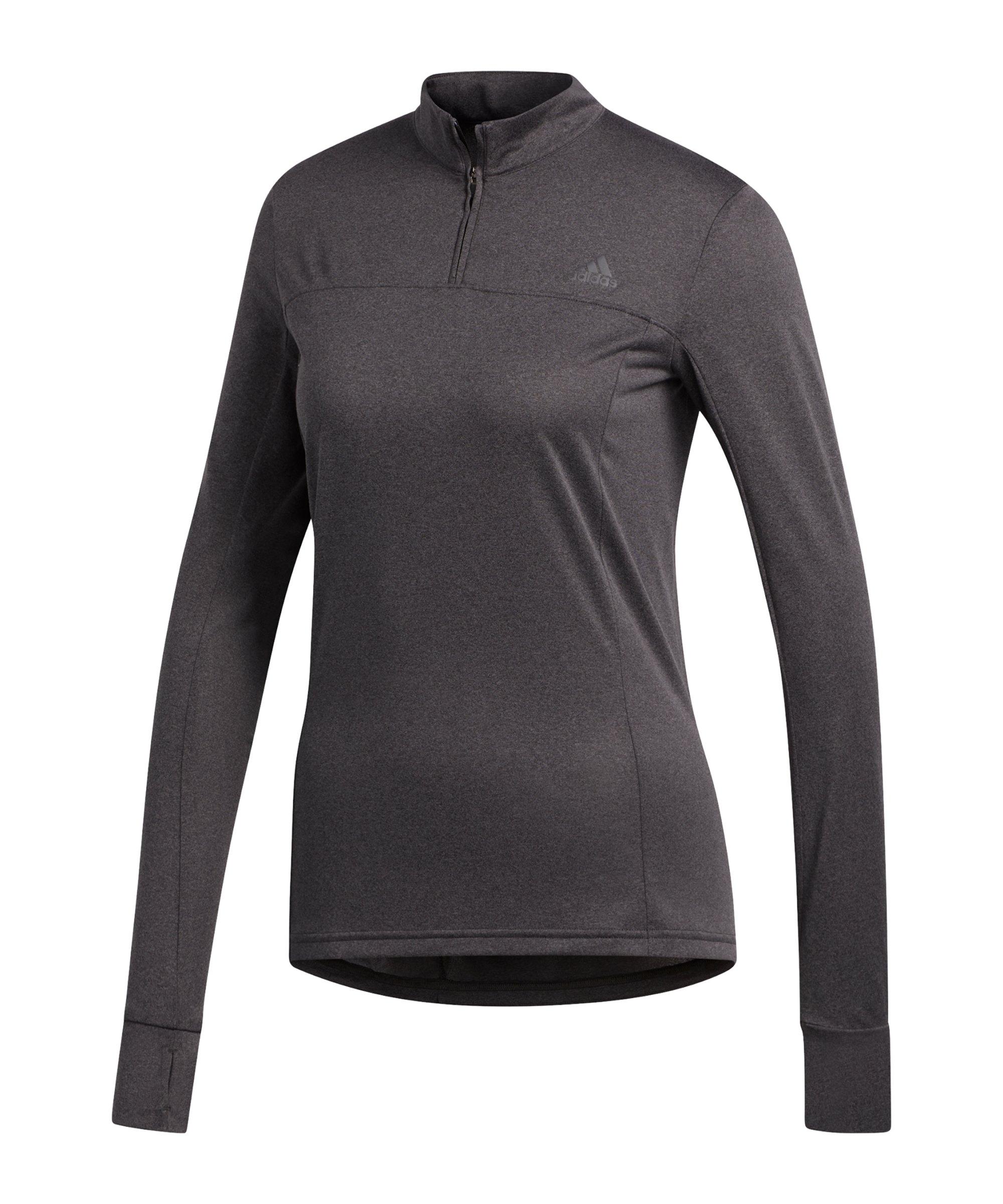 adidas OtR 1/2 Zip Shirt Running Damen Grau - grau