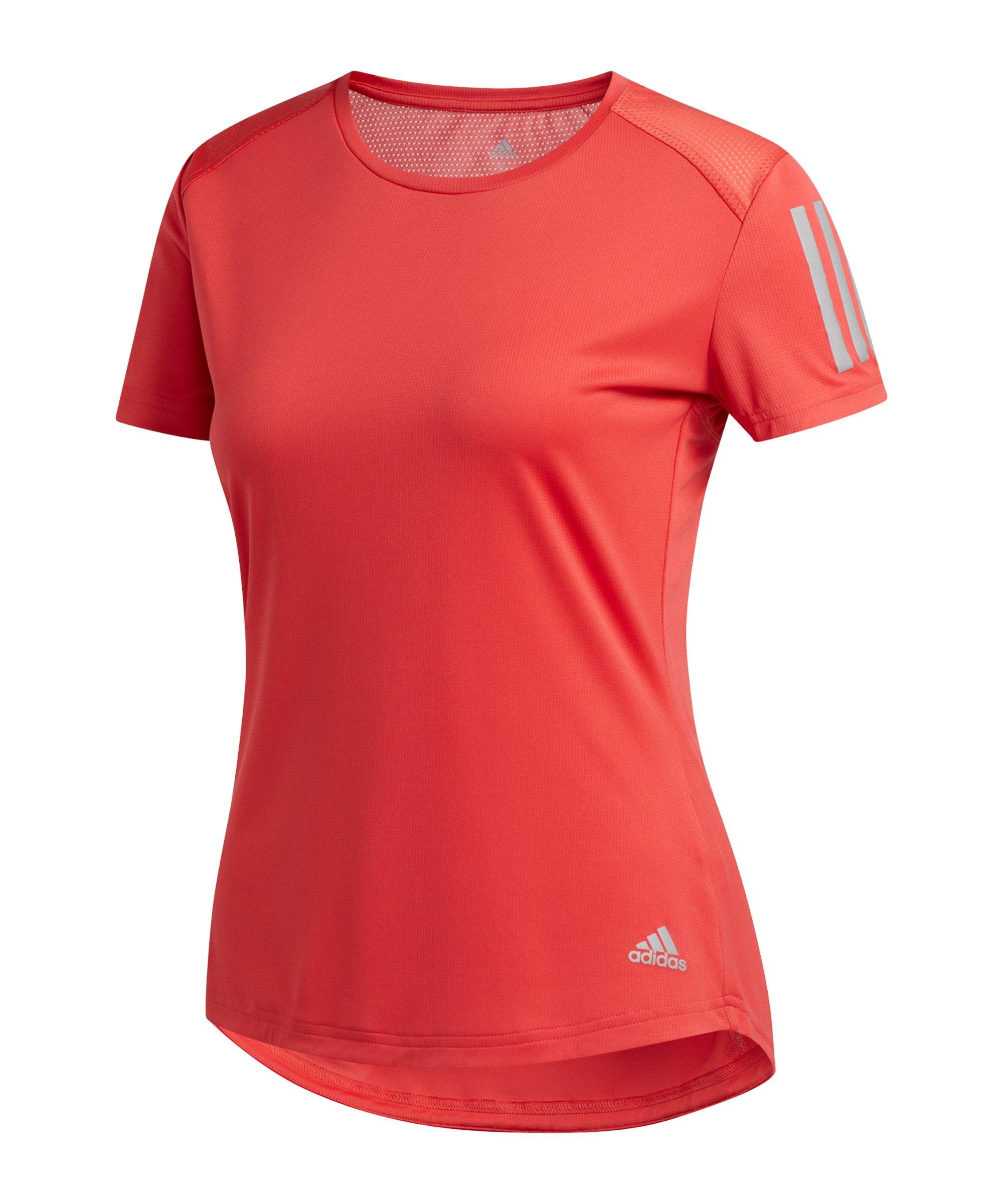 adidas Own The Run T-Shirt Running Damen Rot - rot