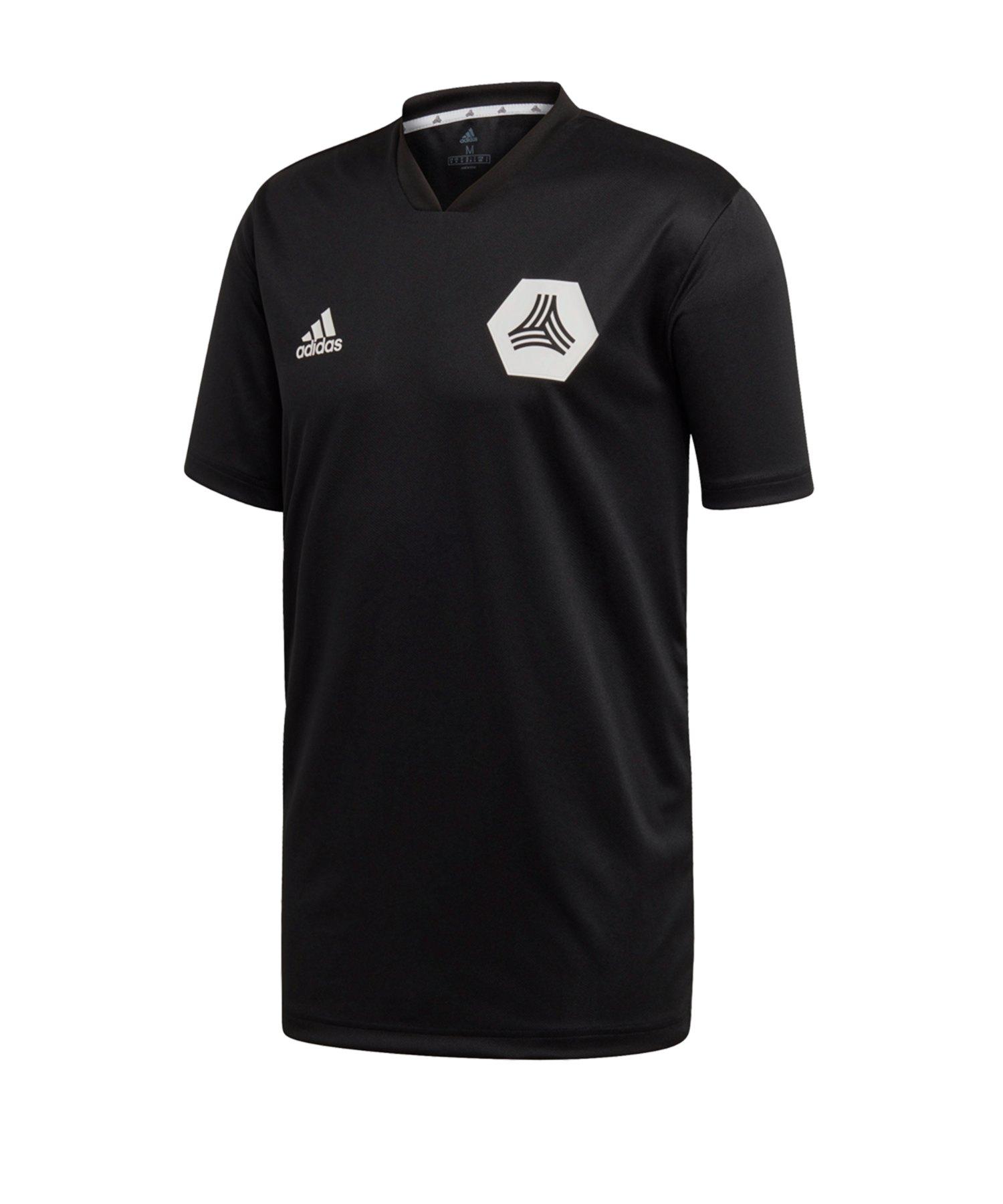 adidas Tango Trainingsshirt kurzarm Schwarz - schwarz