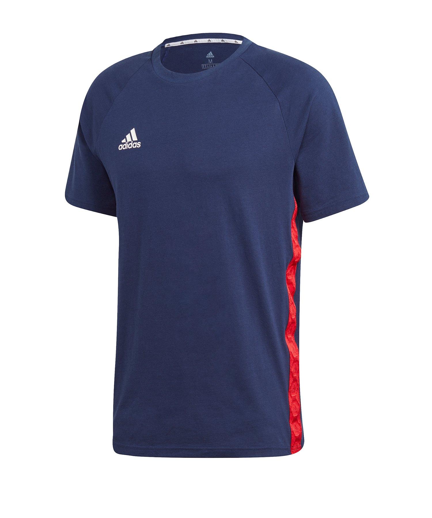 adidas Tan Tape T-Shirt Blau - blau