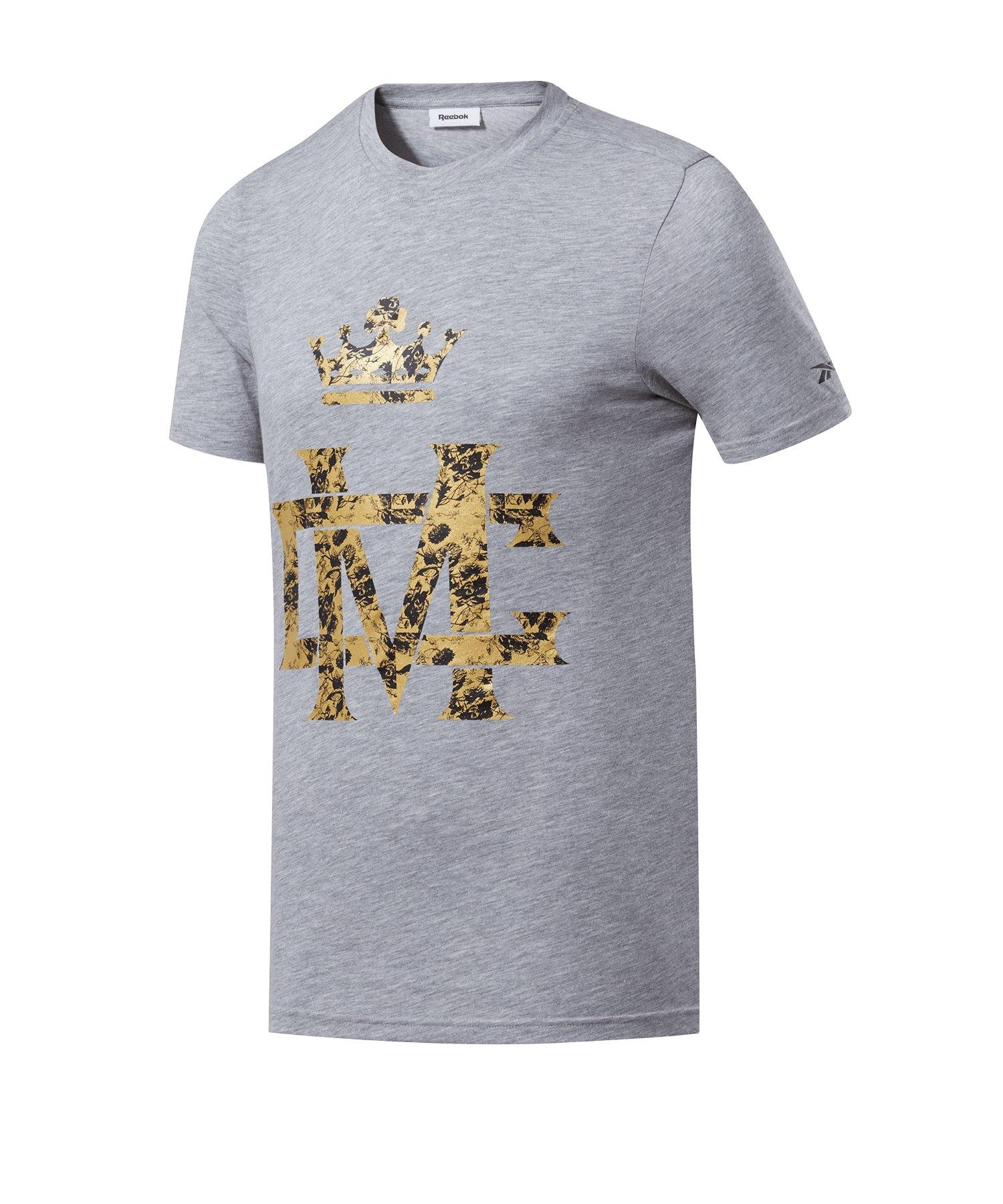 Reebok Combat Conor McGregor T-Shirt Grau - grau