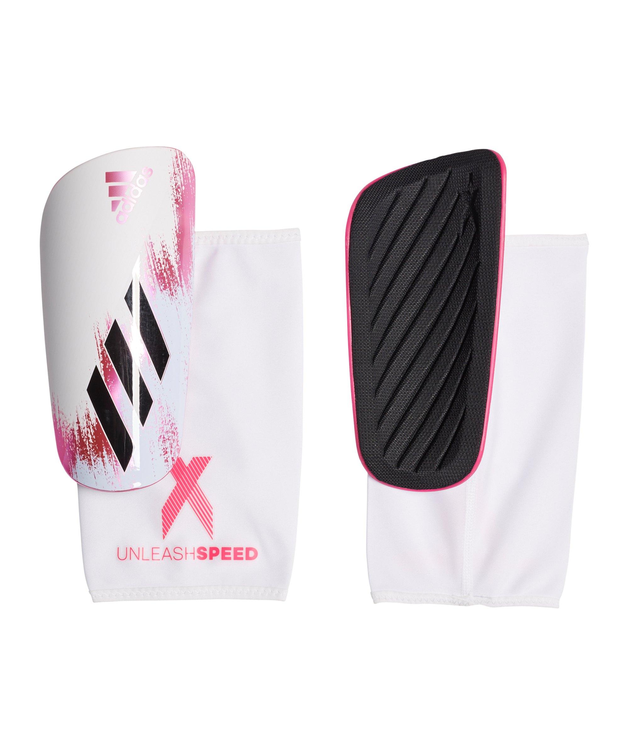 adidas X LGE Schienbeinschoner Weiss Pink - weiss