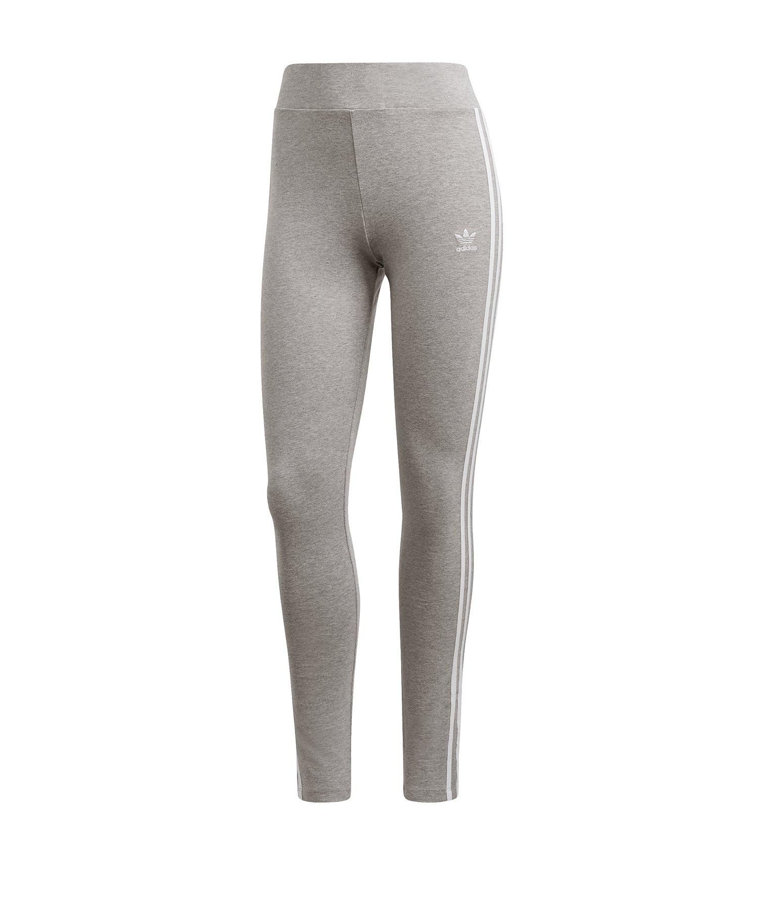 adidas Originals 3 Stripes Leggings Damen Grau - grau