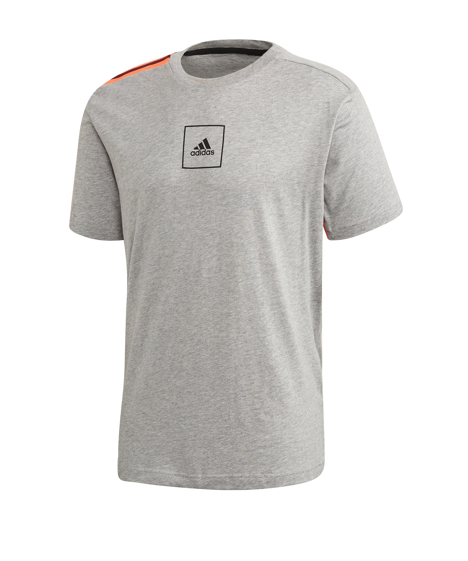 adidas Tape Tee T-Shirt 3 Stripes Grau - grau