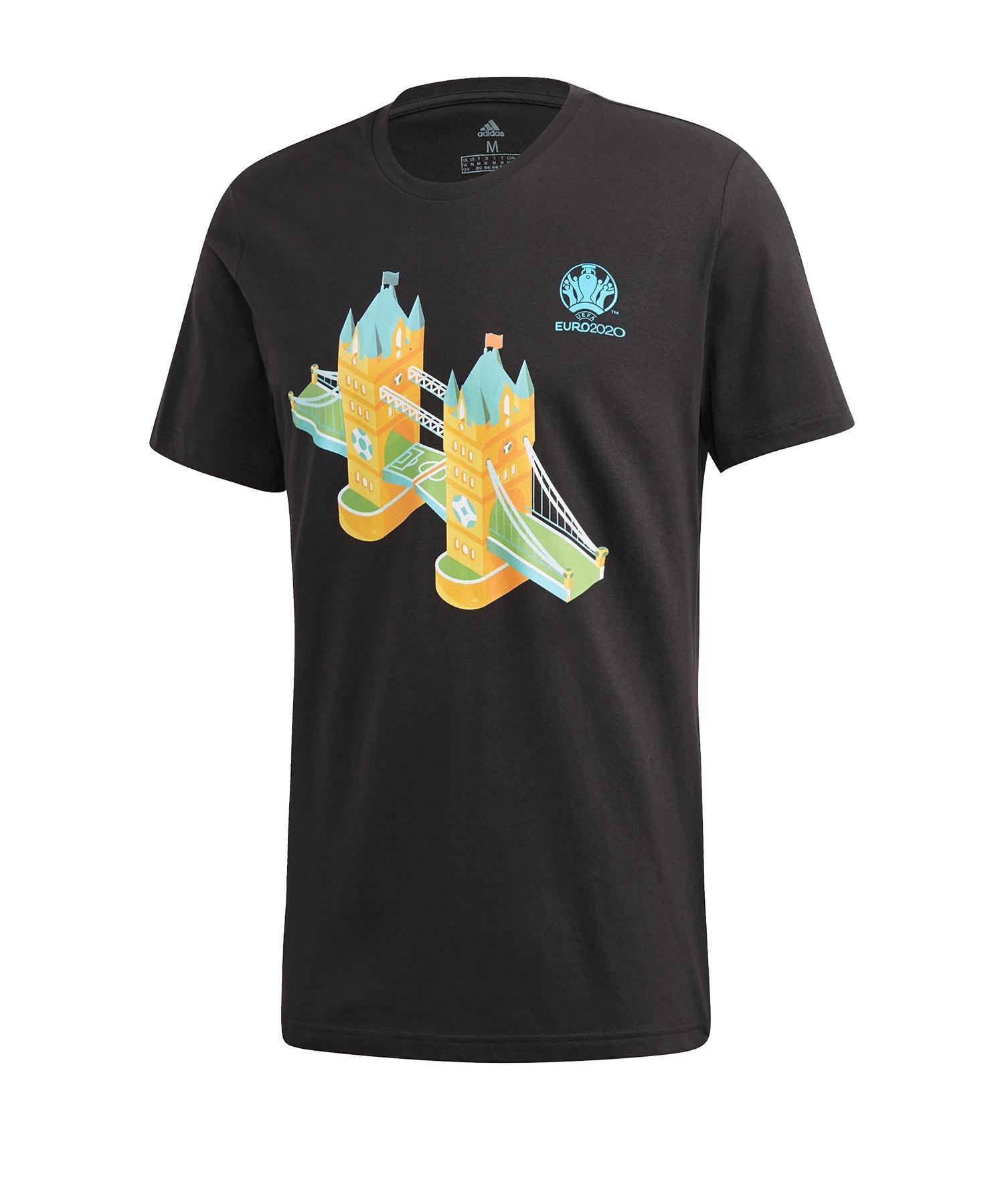 adidas EM 2020 Road to Wembley T-Shirt Schwarz - schwarz