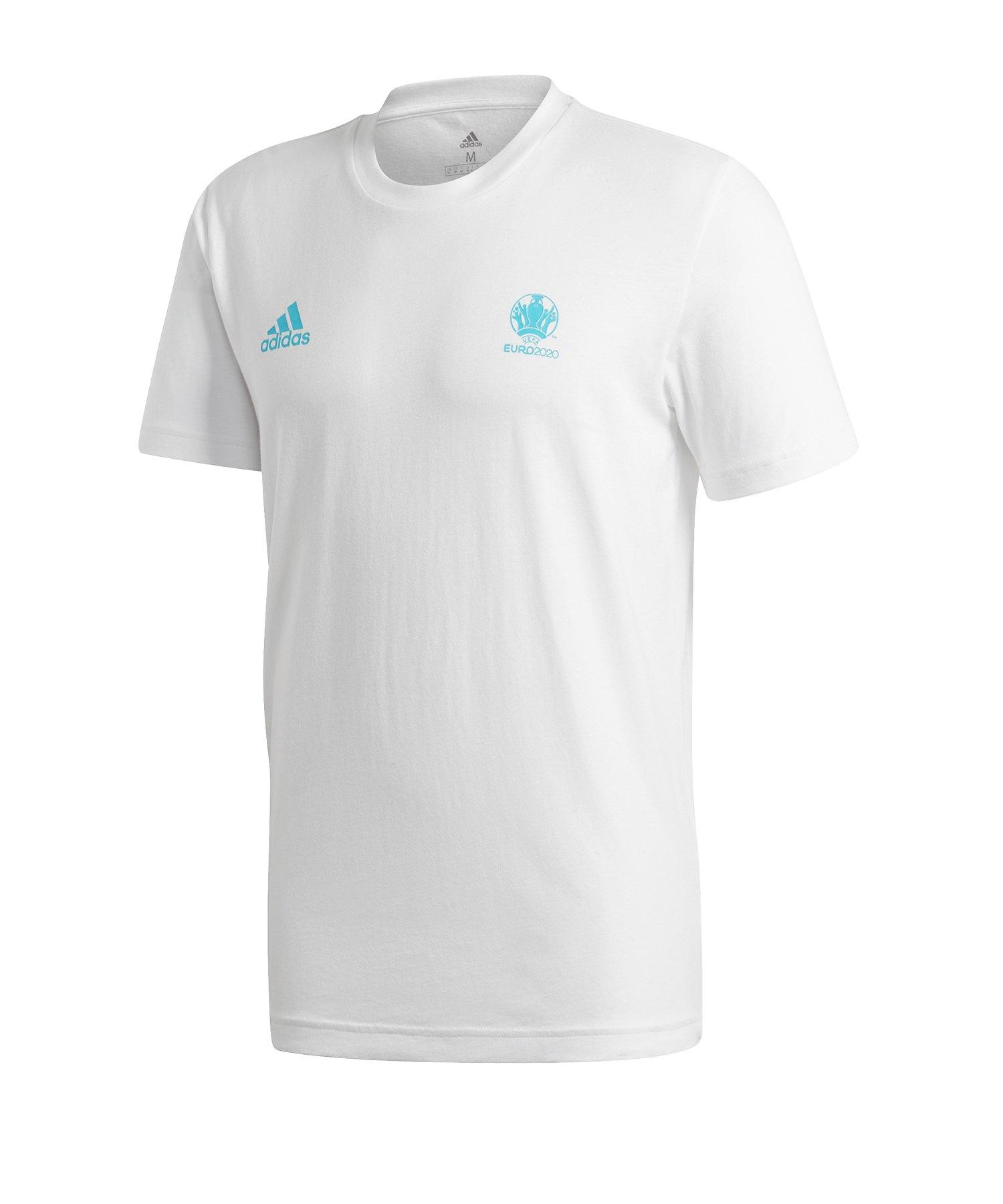 adidas EM 2020 Map T-Shirt Weiss - weiss