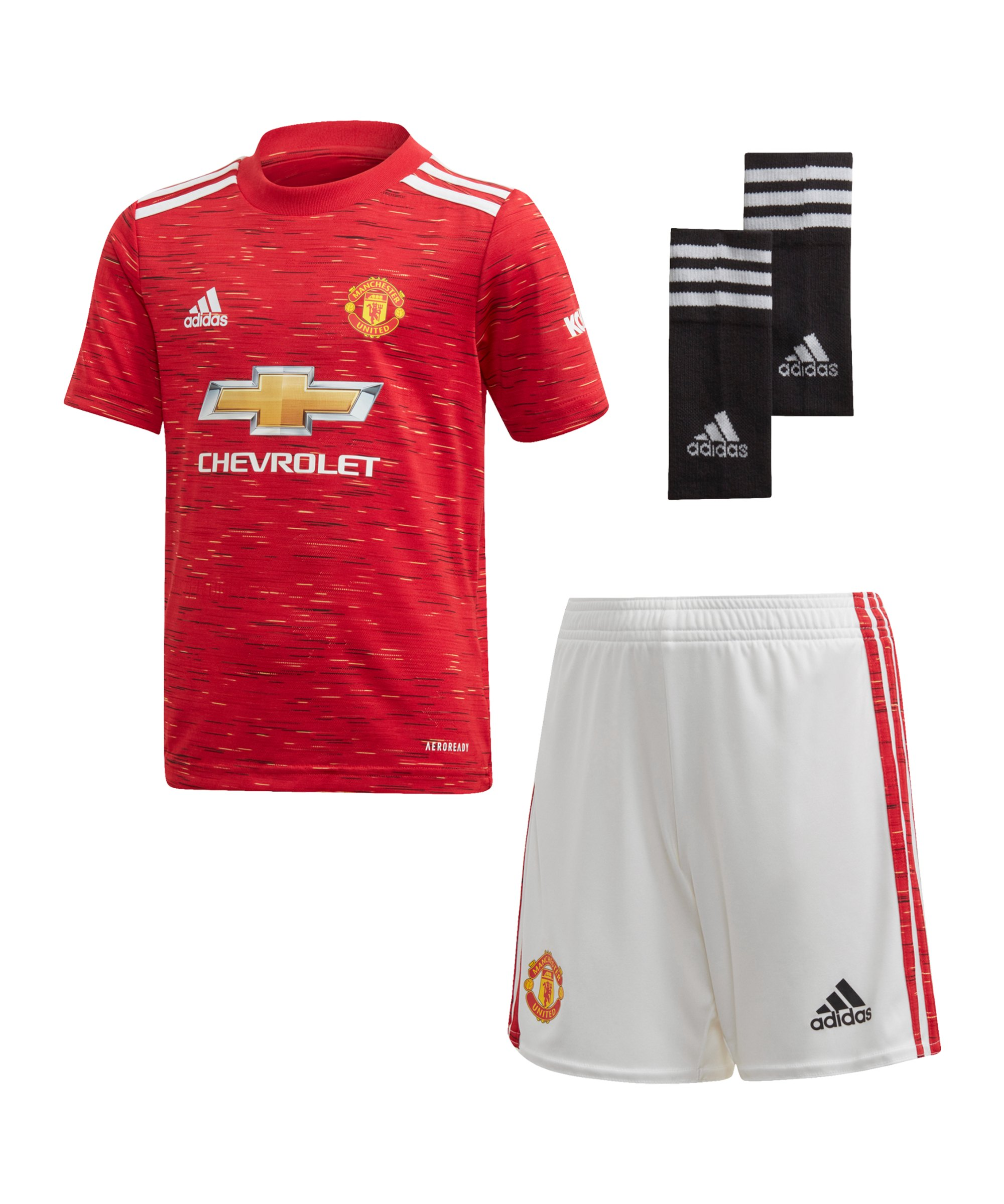 adidas Manchester United Minikit Home 2020/2021 Rot - rot