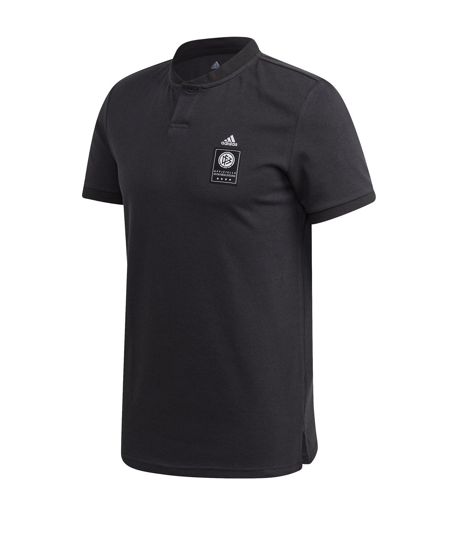 adidas DFB Deutschland Poloshirt Schwarz - schwarz