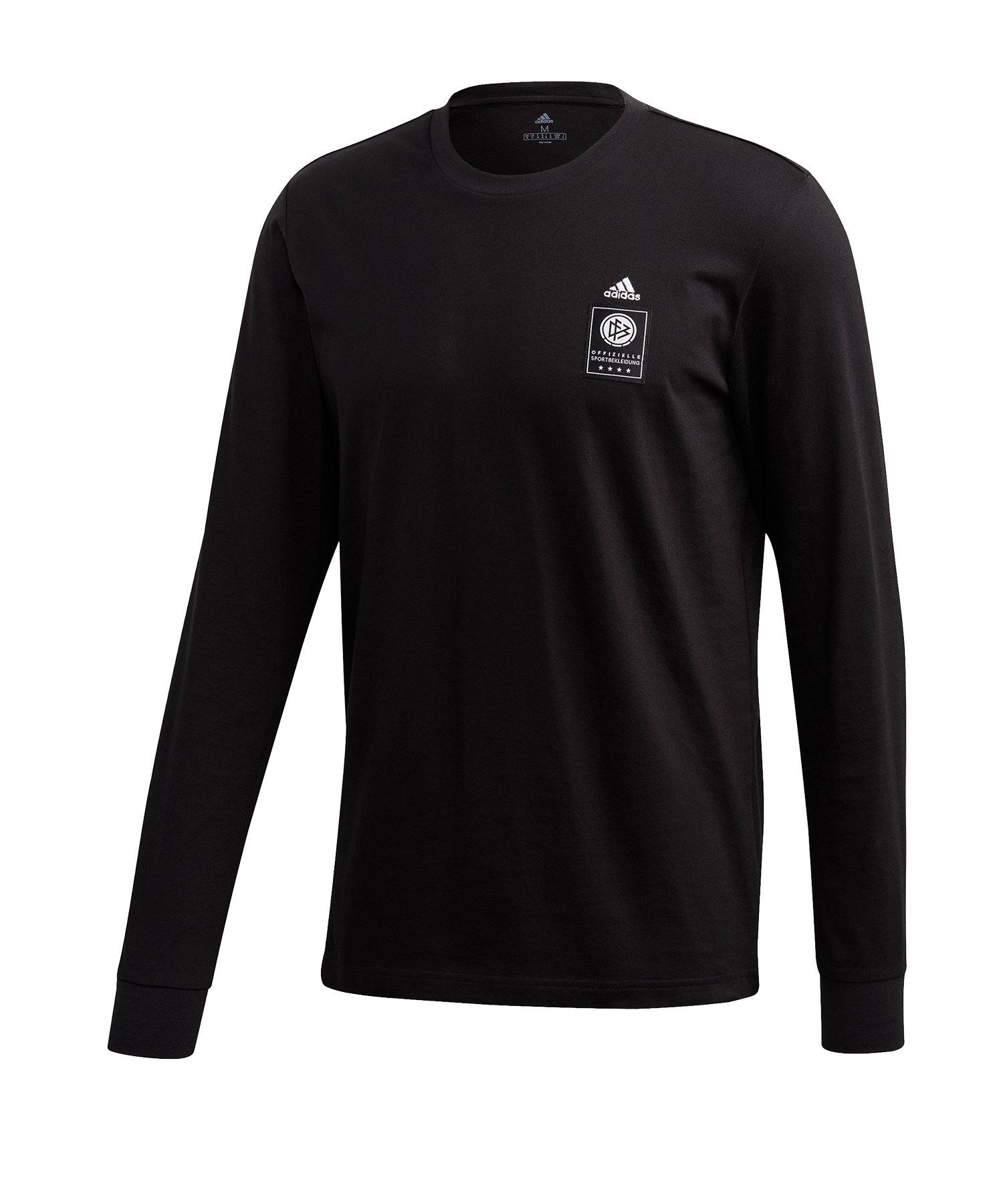 adidas DFB Deutschland Langarmshirt Schwarz - schwarz