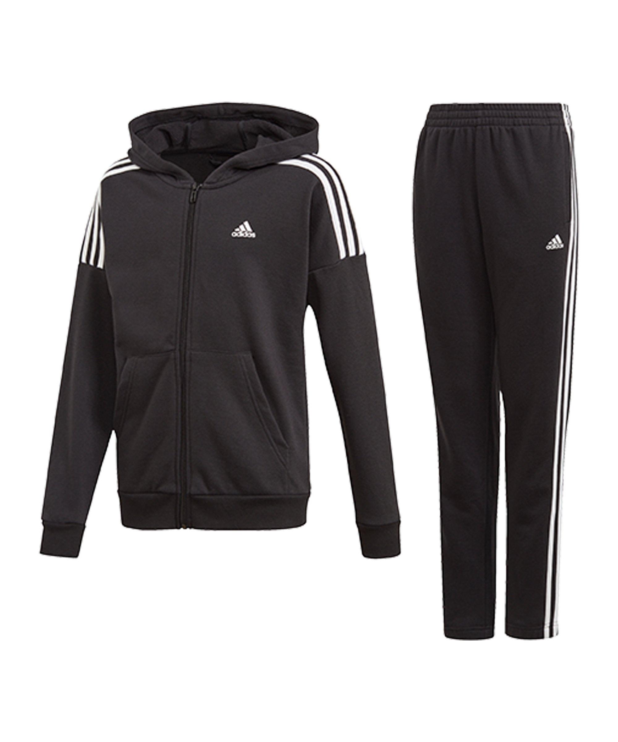 adidas Trainingsanzug Kids Schwarz Weiss - schwarz