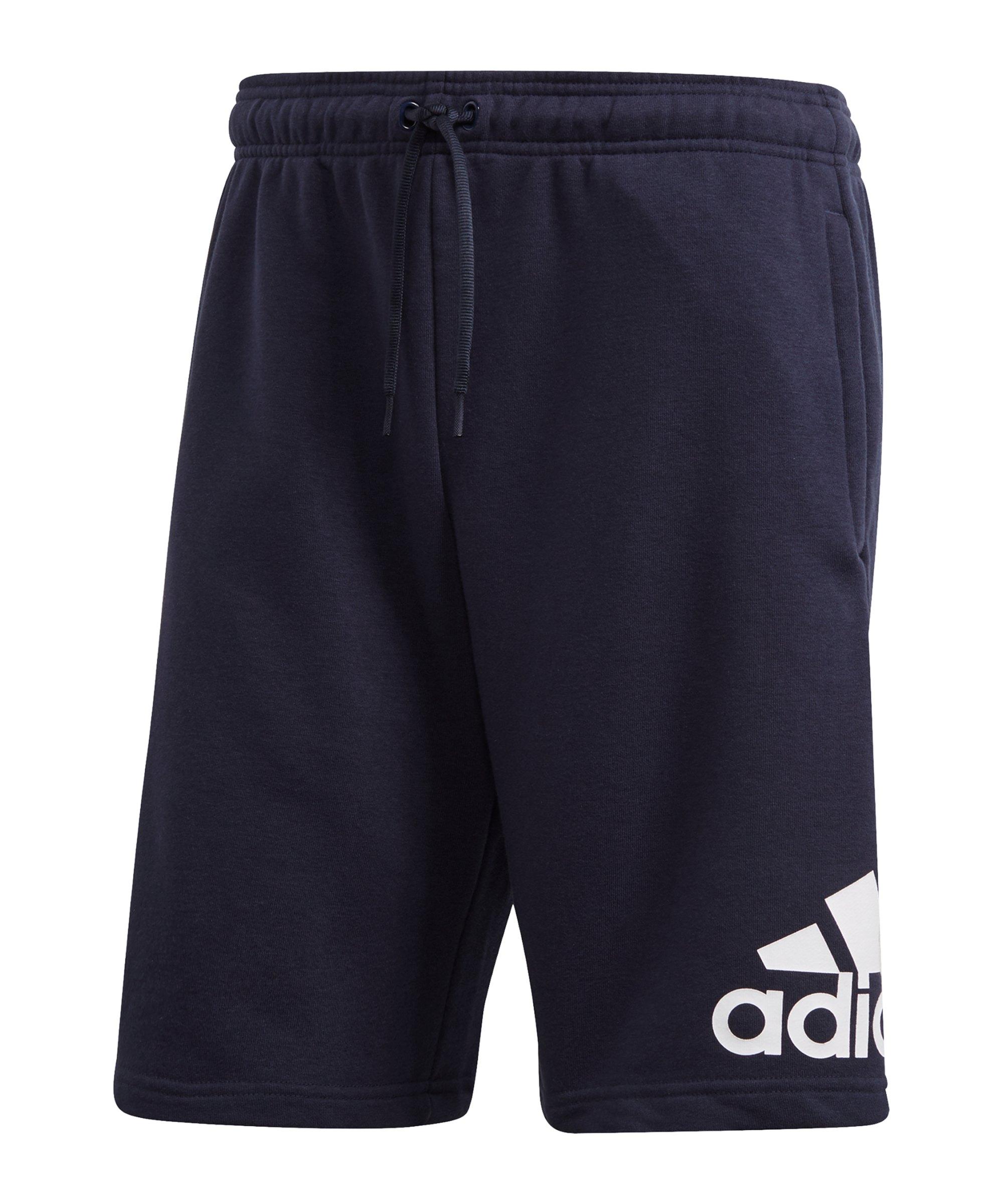 adidas Must Haves Badge of Sport Short Blau Weiss - blau
