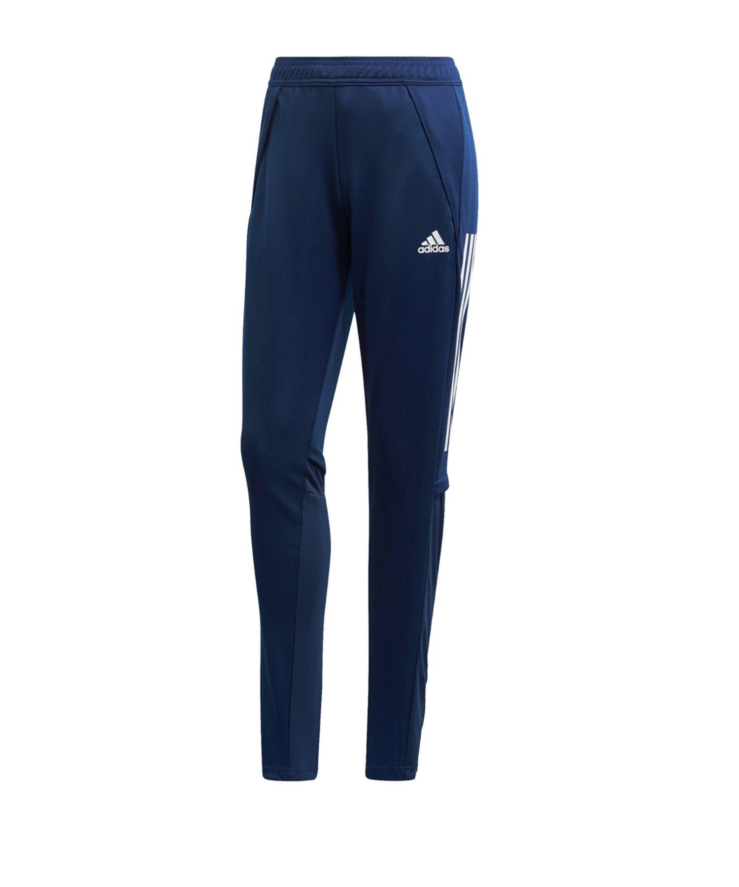 adidas Condivo 20 Trainingshose Damen Blau Weiss - blau