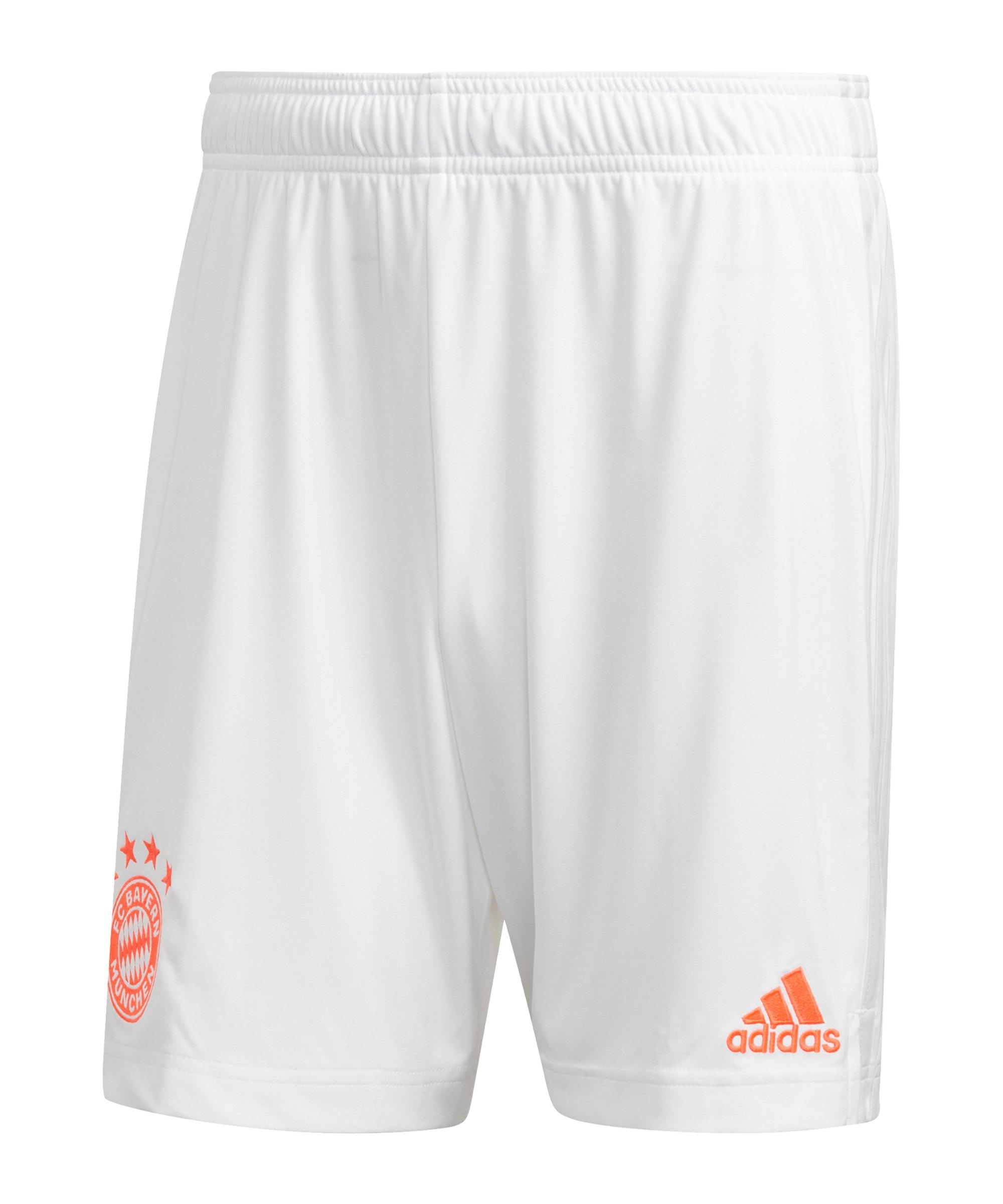 adidas FC Bayern München Short Away 2020/2021 Weiss - weiss