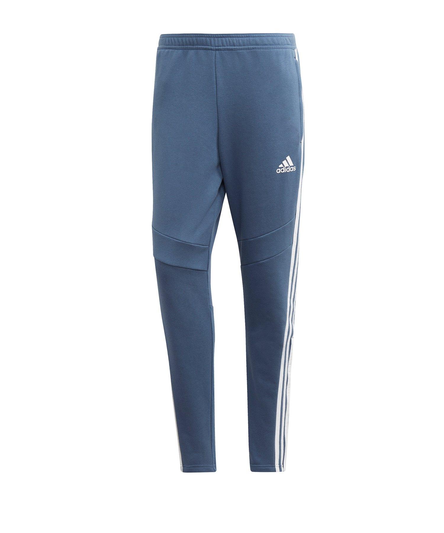 adidas Tiro 19 Jogginghose FT lang Blau - blau