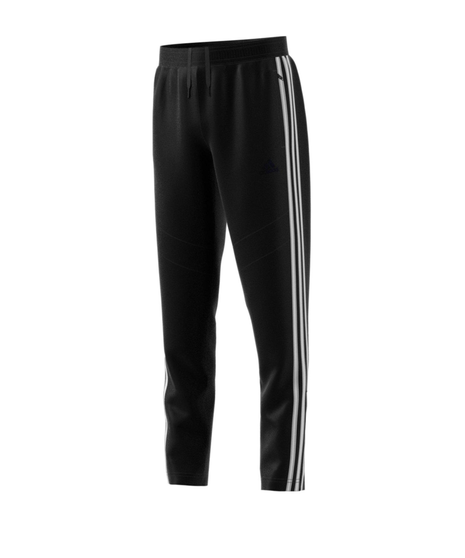 adidas Tiro 19 Jogginghose FT lang Kids Schwarz - schwarz