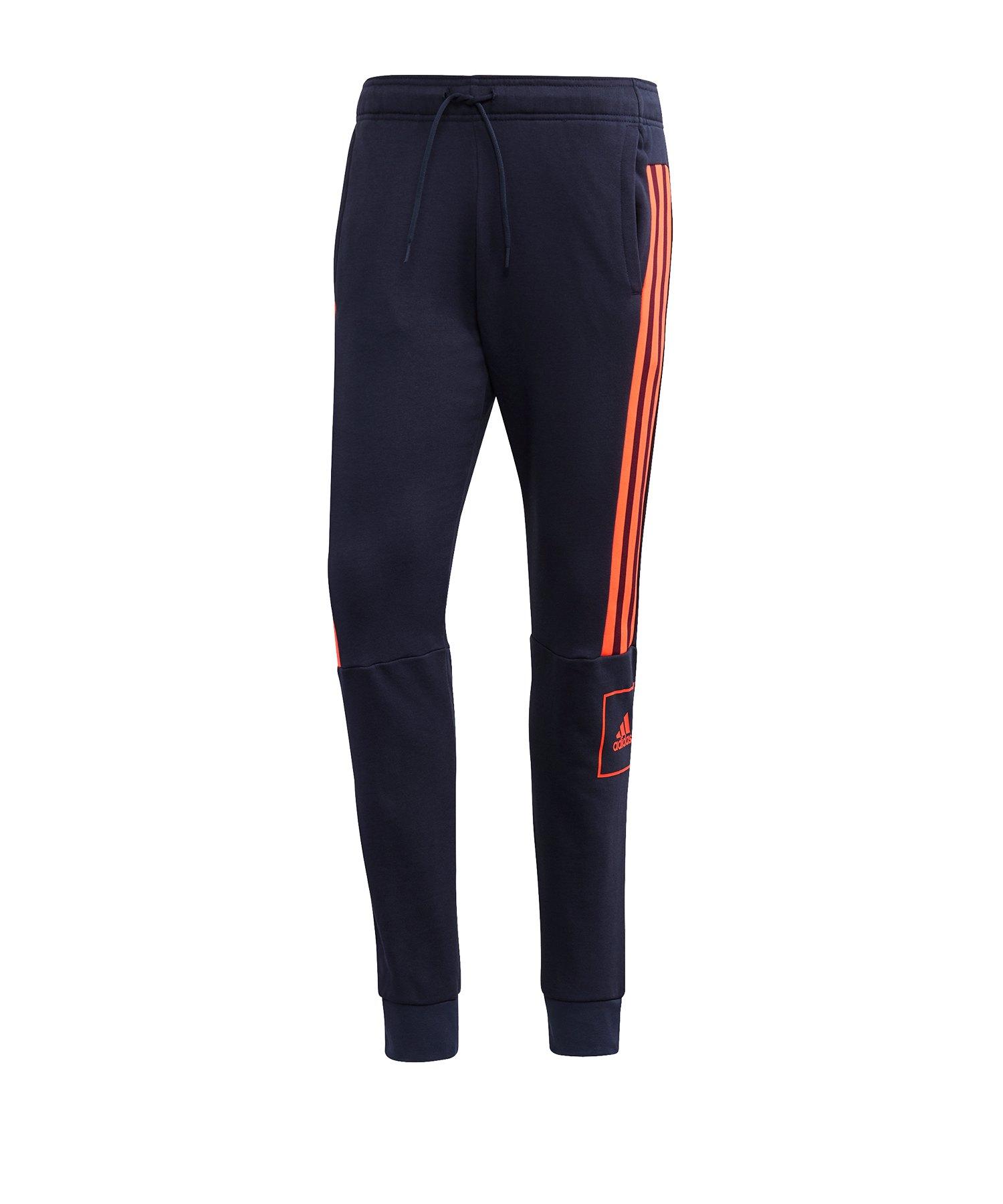 adidas 3S Pant Jogginghose lang Blau Rot - blau