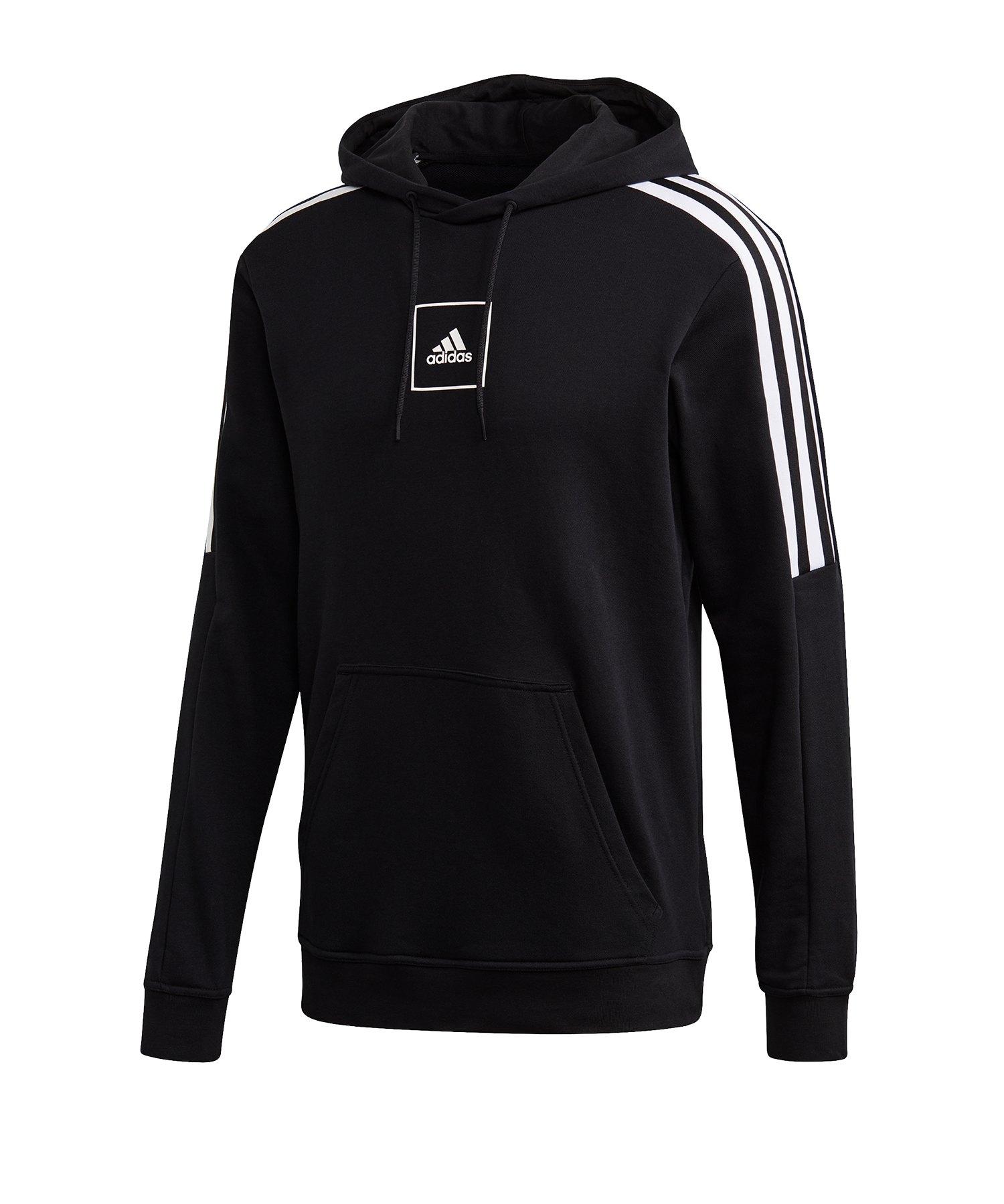 adidas Tape Kapuzensweatshirt 3 Stripes Schwarz - schwarz