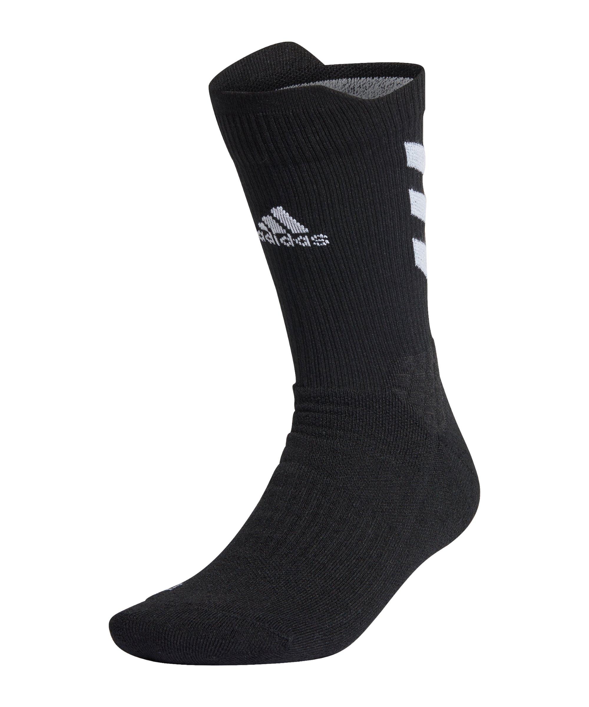 adidas Alphaskin Crew MC Socken Schwarz - schwarz
