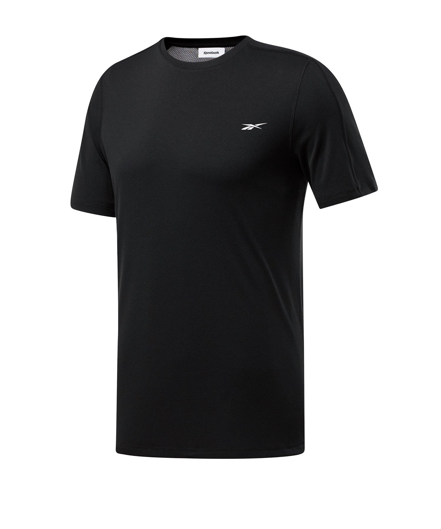 Reebok Workout Ready Tech T-Shirt Schwarz Weiss - schwarz