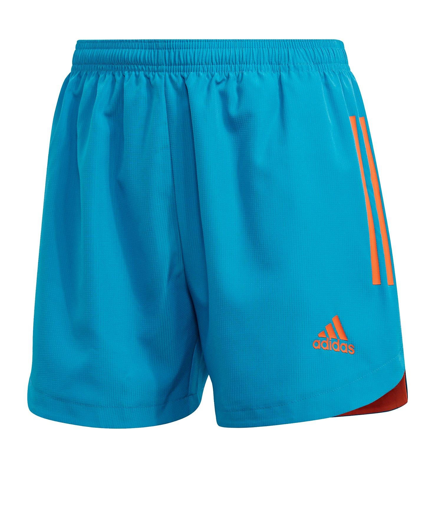 adidas Condivo 20 PB Short lang Damen Blau Orange - blau