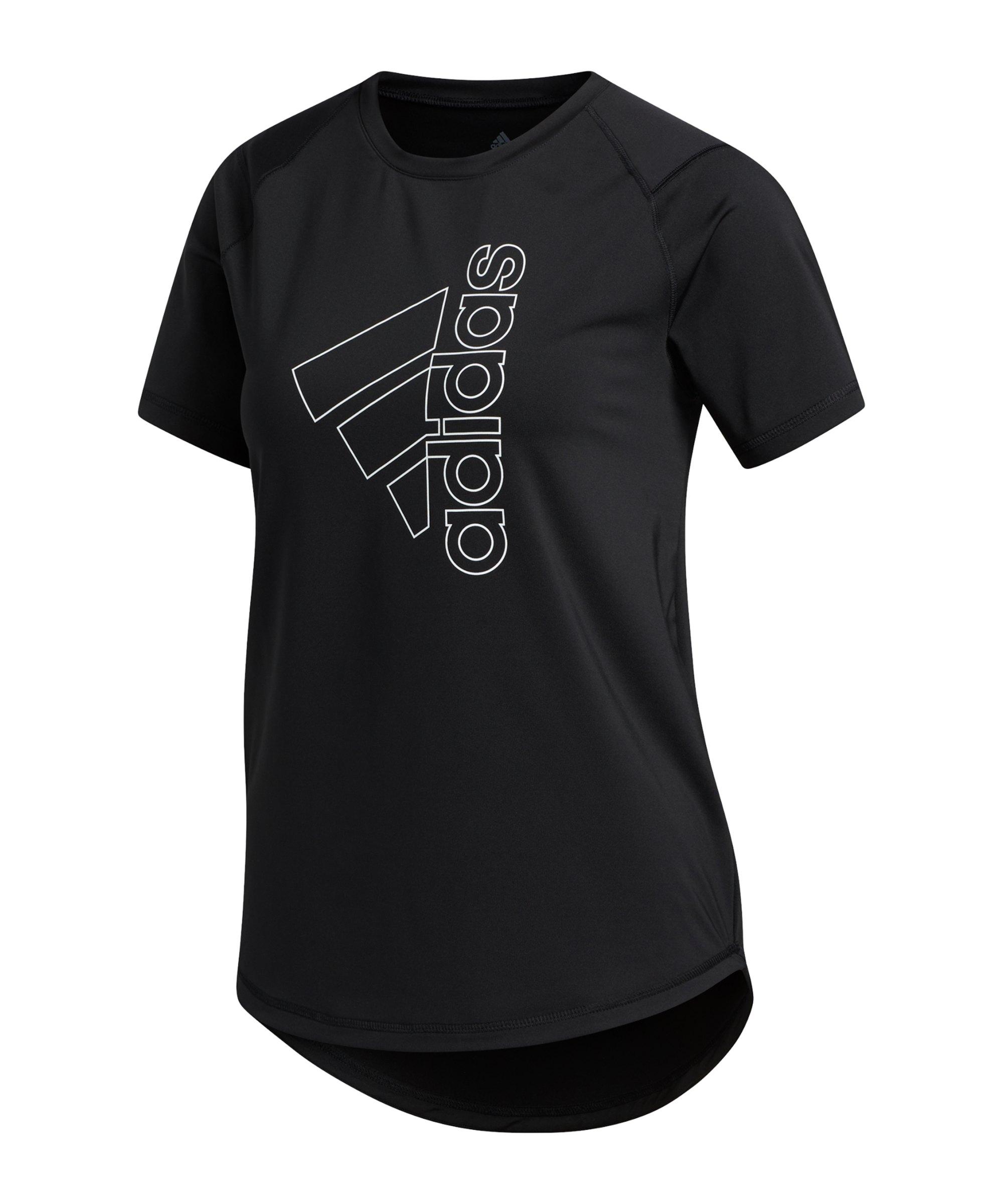 adidas Tech Badge of Sport T-Shirt Damen Schwarz - schwarz