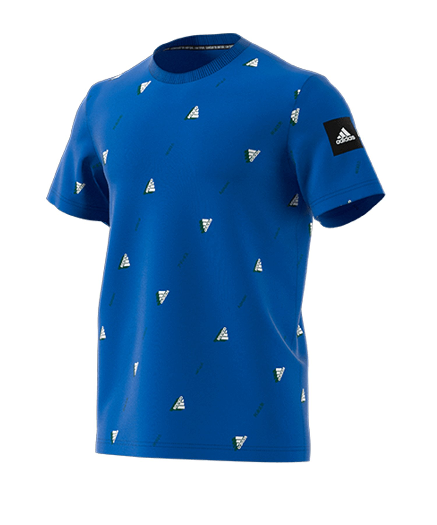 adidas Crew GFX T-shirt Blau Weiss - blau