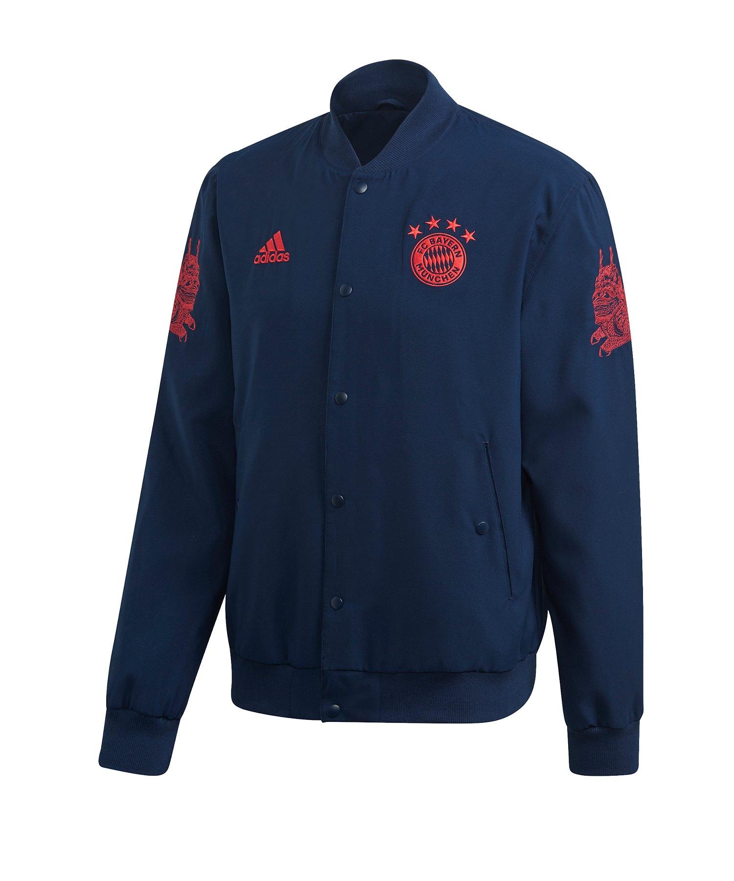 adidas FC Bayern München CNY Jacke Blau - blau