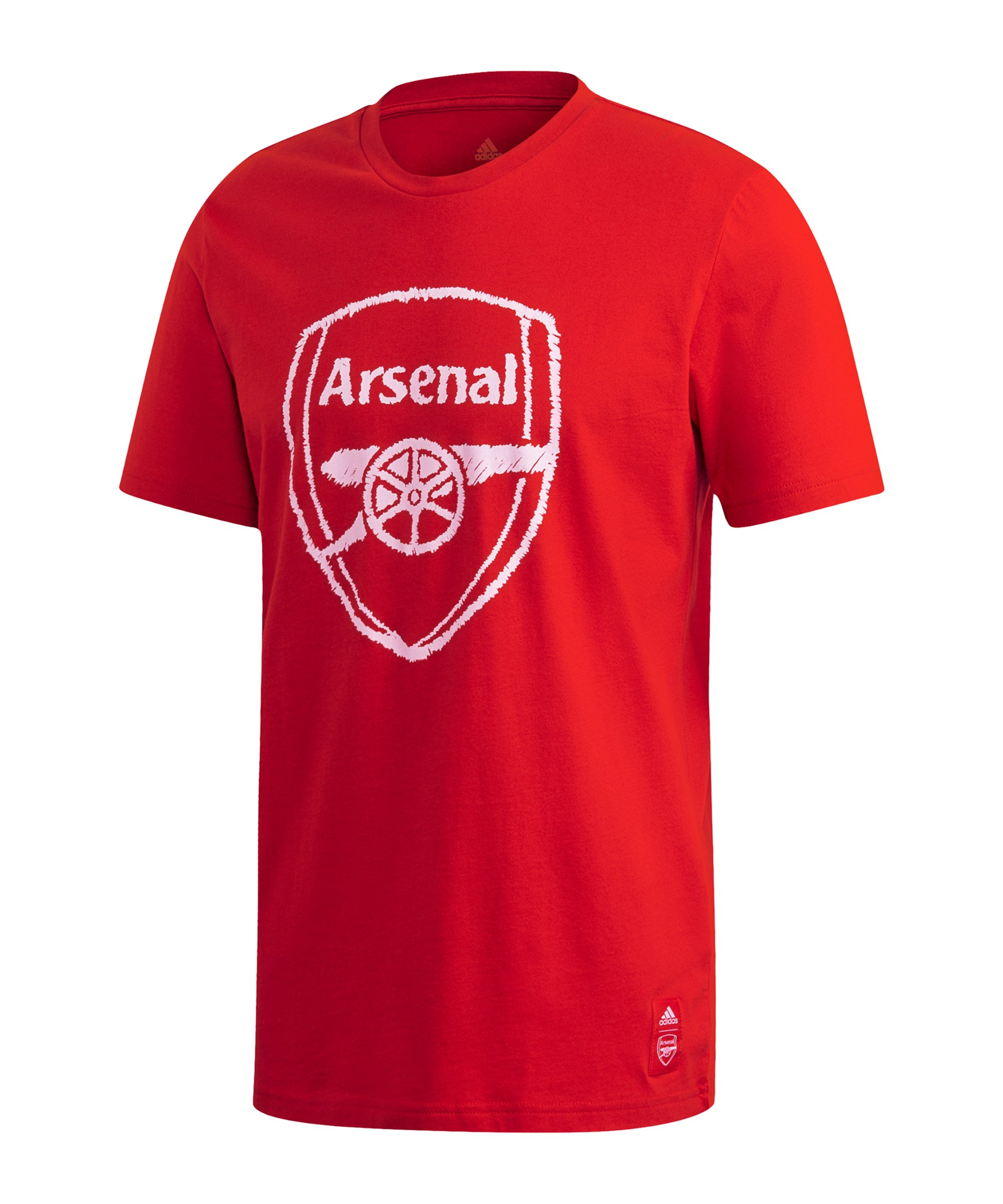 adidas FC Arsenal London DNA Graphic T-Shirt Rot - rot