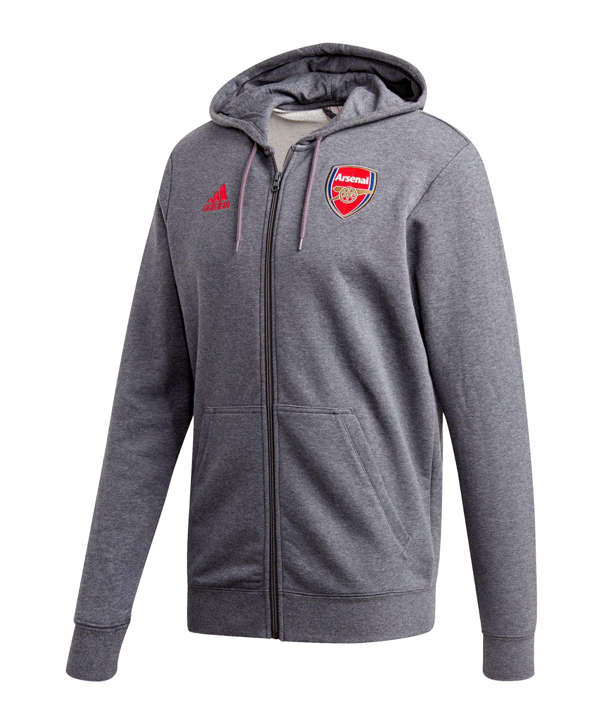 adidas FC Arsenal London 3S Kapuzenjacke Grau - grau