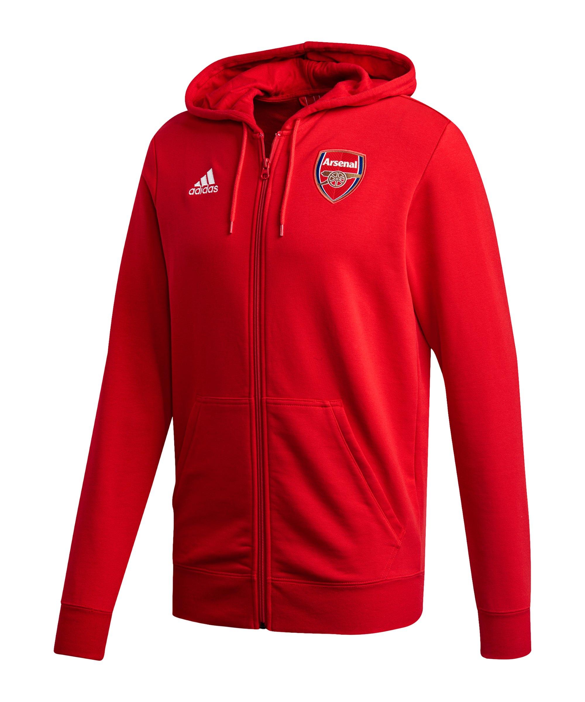 adidas FC Arsenal London 3S Kapuzenjacke Rot - rot