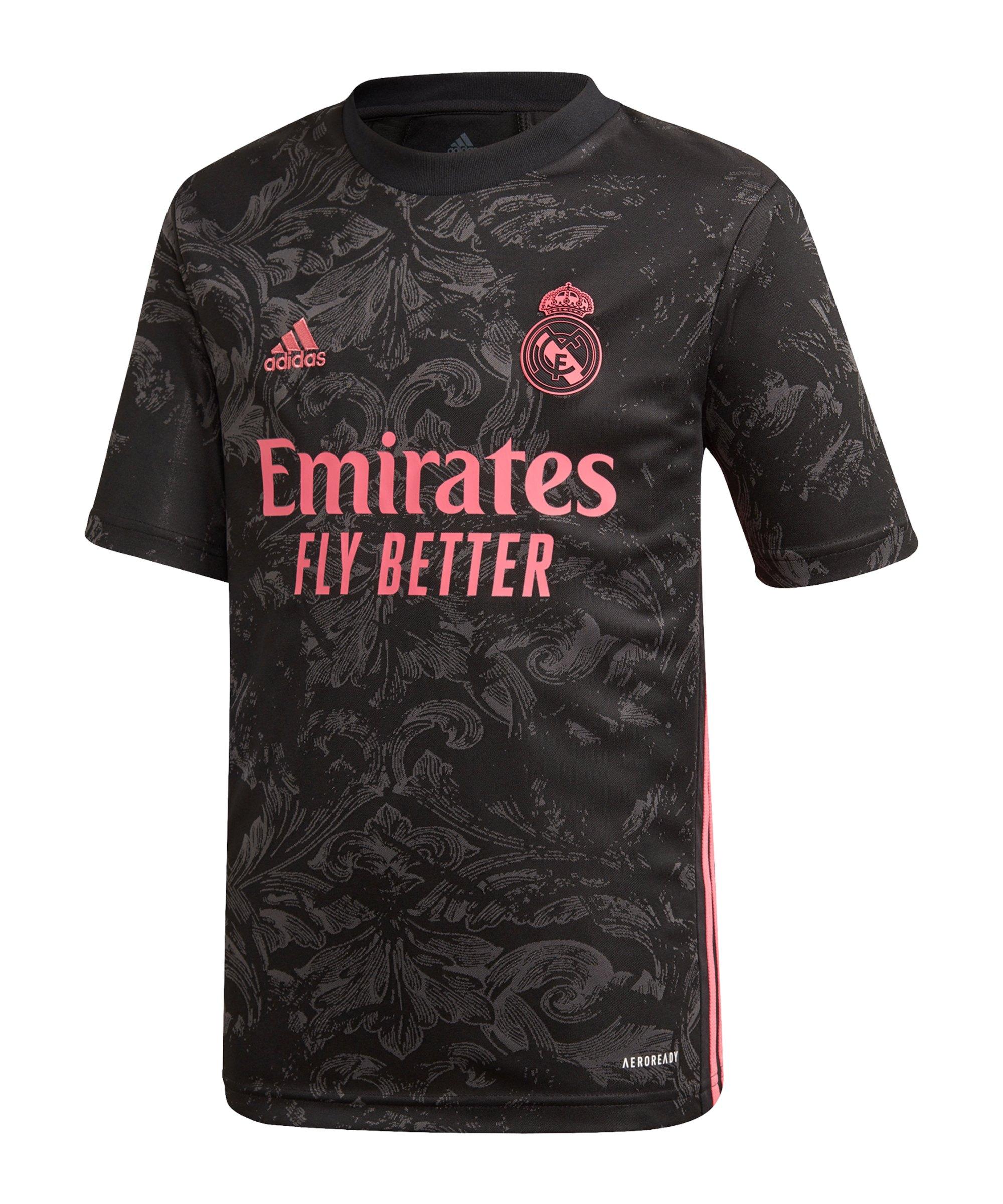 adidas Real Madrid Trikot UCL 2020/2021 Kids - schwarz
