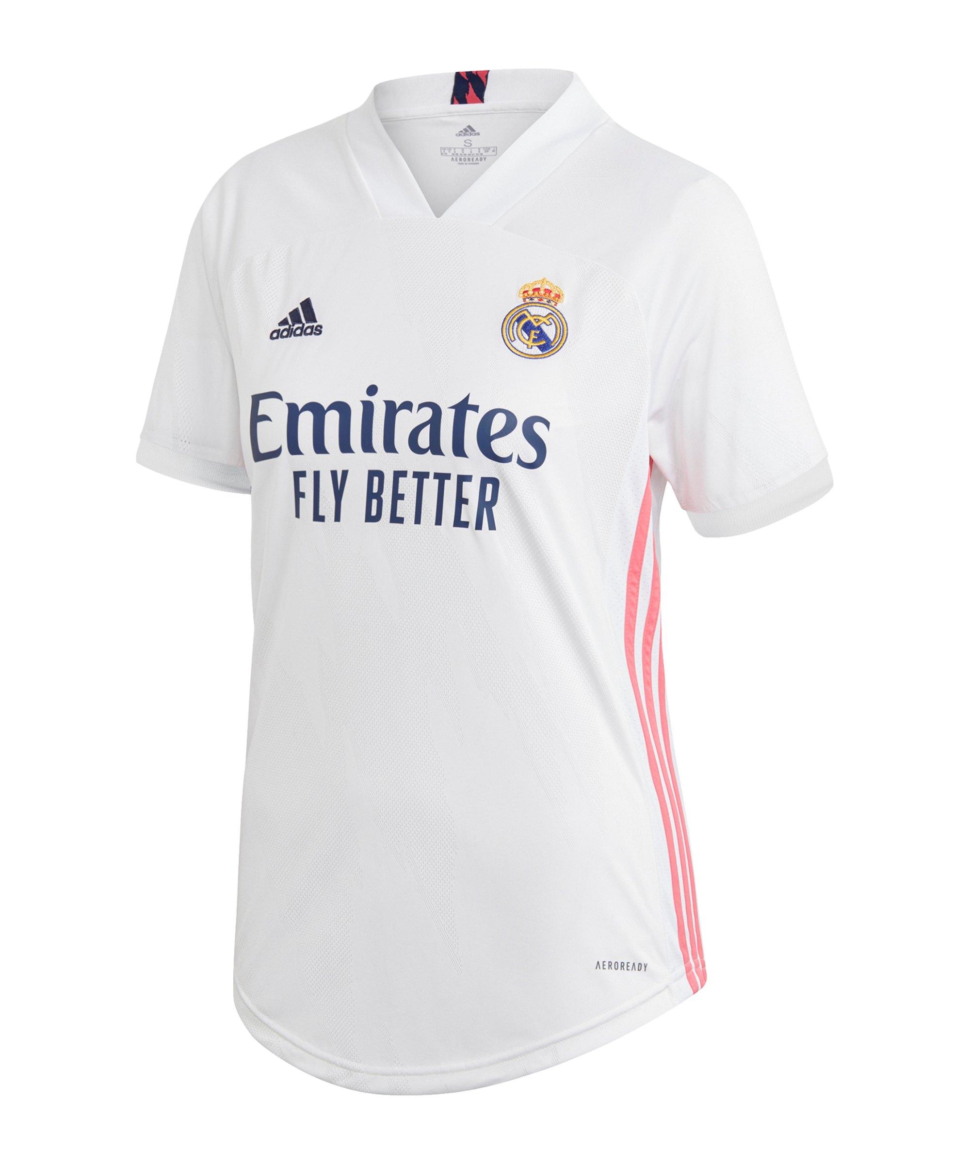 adidas Real Madrid Trikot Home 2020/2021 Damen - weiss