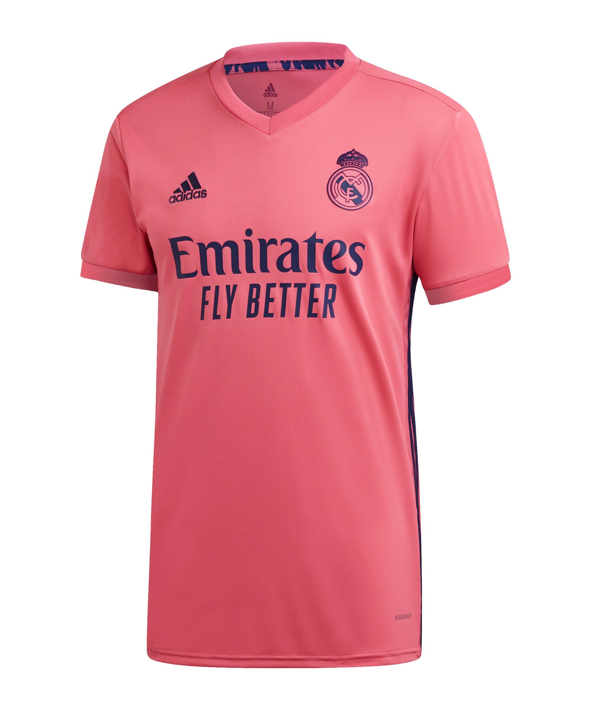 adidas Real Madrid Trikot Away 2020/2021 Kids Pink - pink