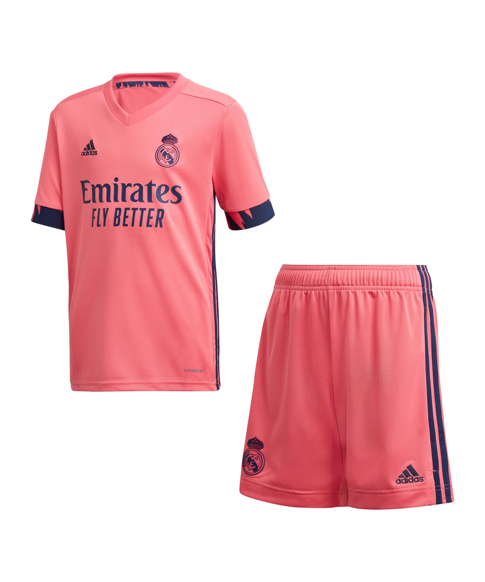 adidas Real Madrid Trikotset Away 2020/2021 Kids - pink