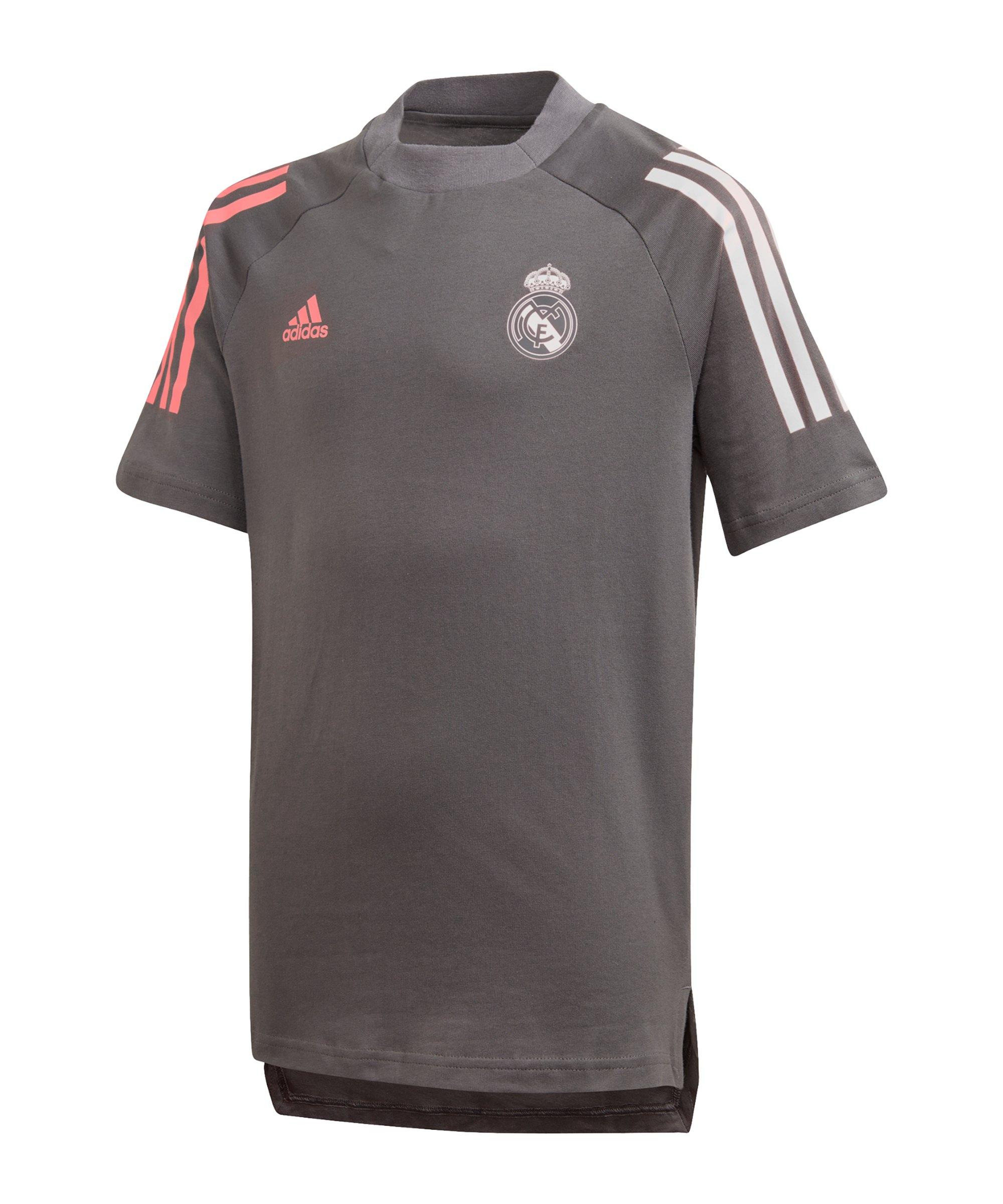 adidas Real Madrid T-Shirt Kids Grau - grau