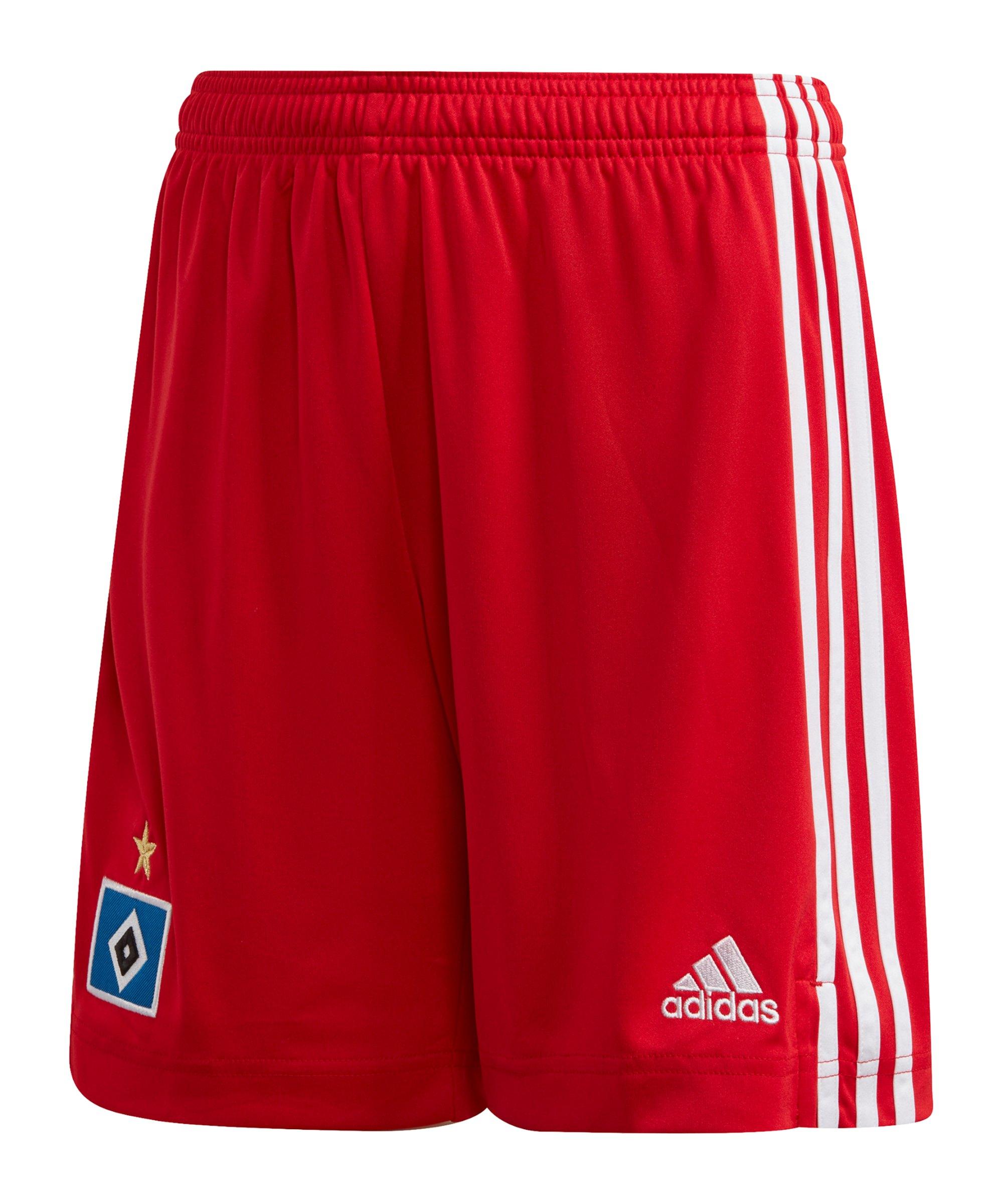 adidas Hamburger SV Short Home 2020/2021 Kids Rot - rot