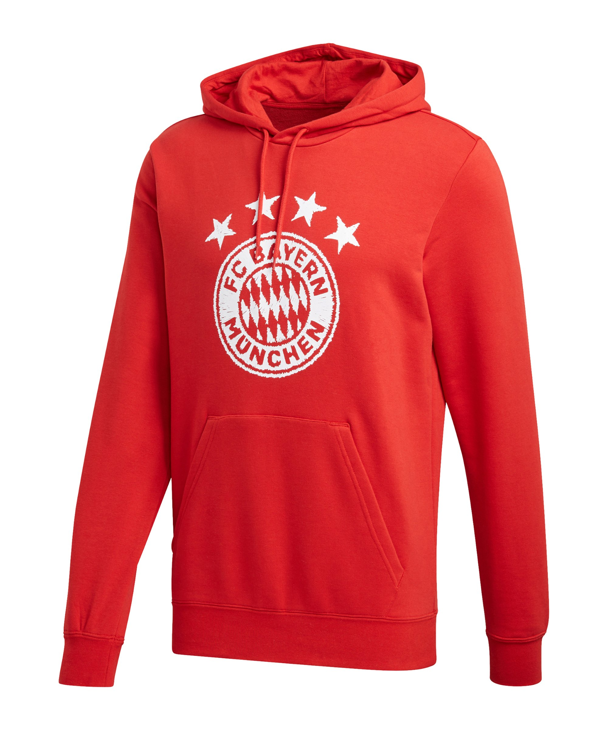 adidas FC Bayern München DNA Graphic Hoody Rot - rot