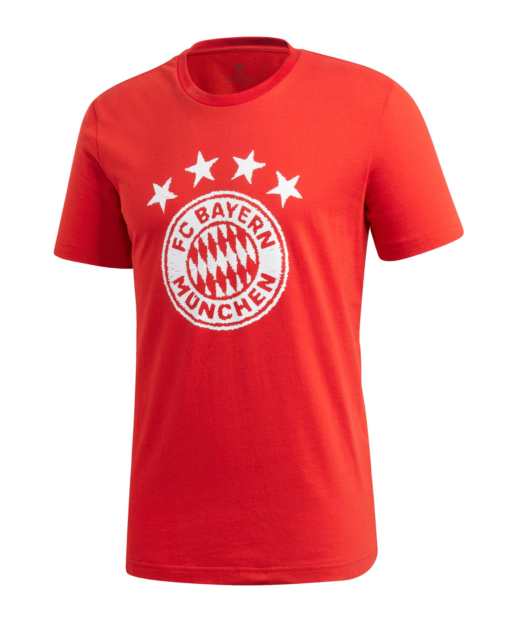 adidas FC Bayern München DNA Graphic T-Shirt Rot - rot