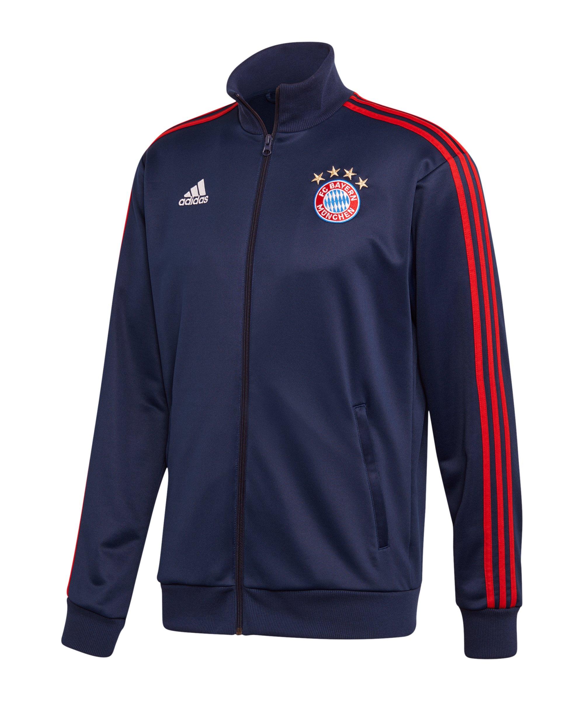 adidas FC Bayern München 3S Trainingsjacke Blau - blau