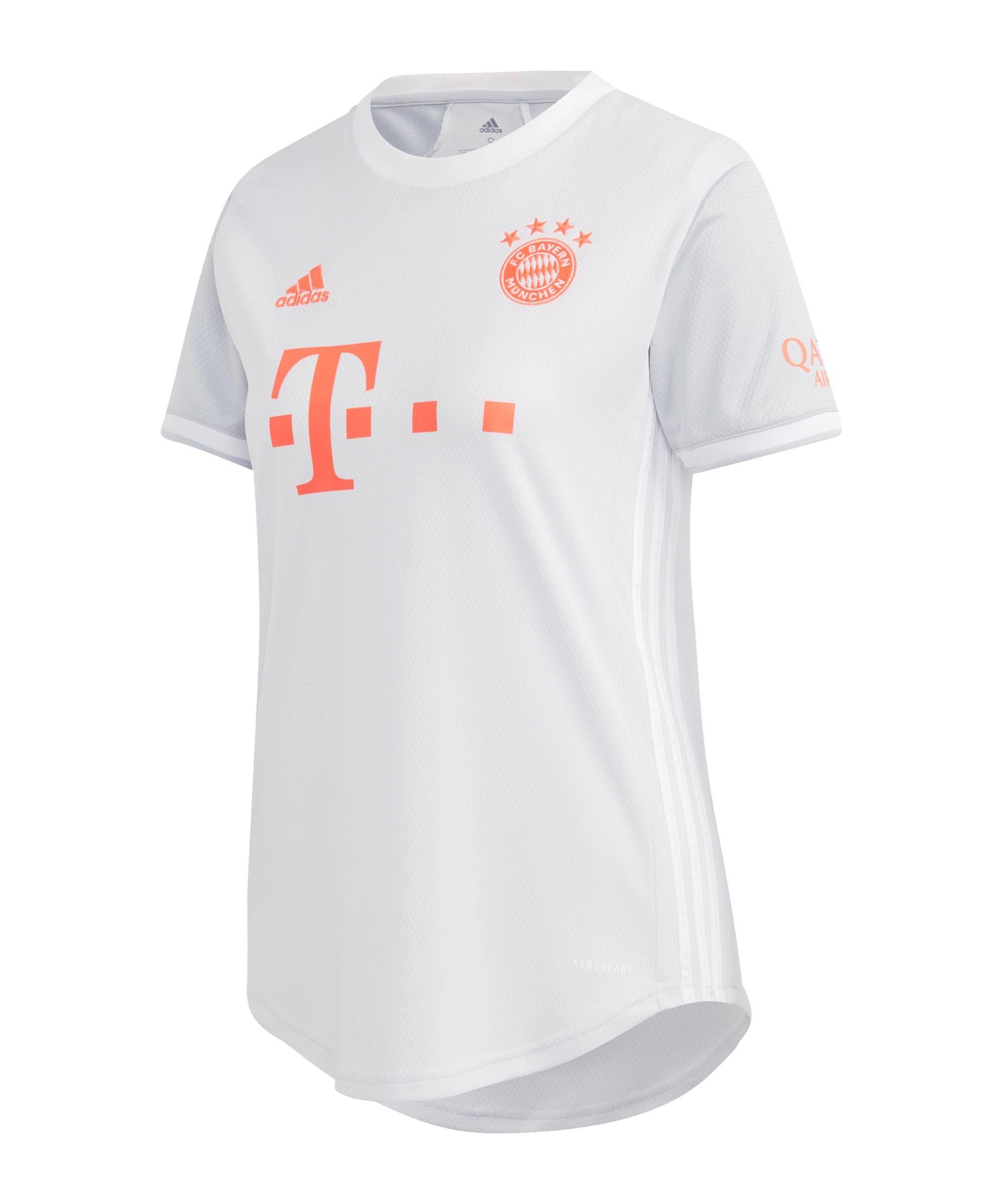 adidas FC Bayern München Trikot Away 2020/2021 Damen Weiss - grau