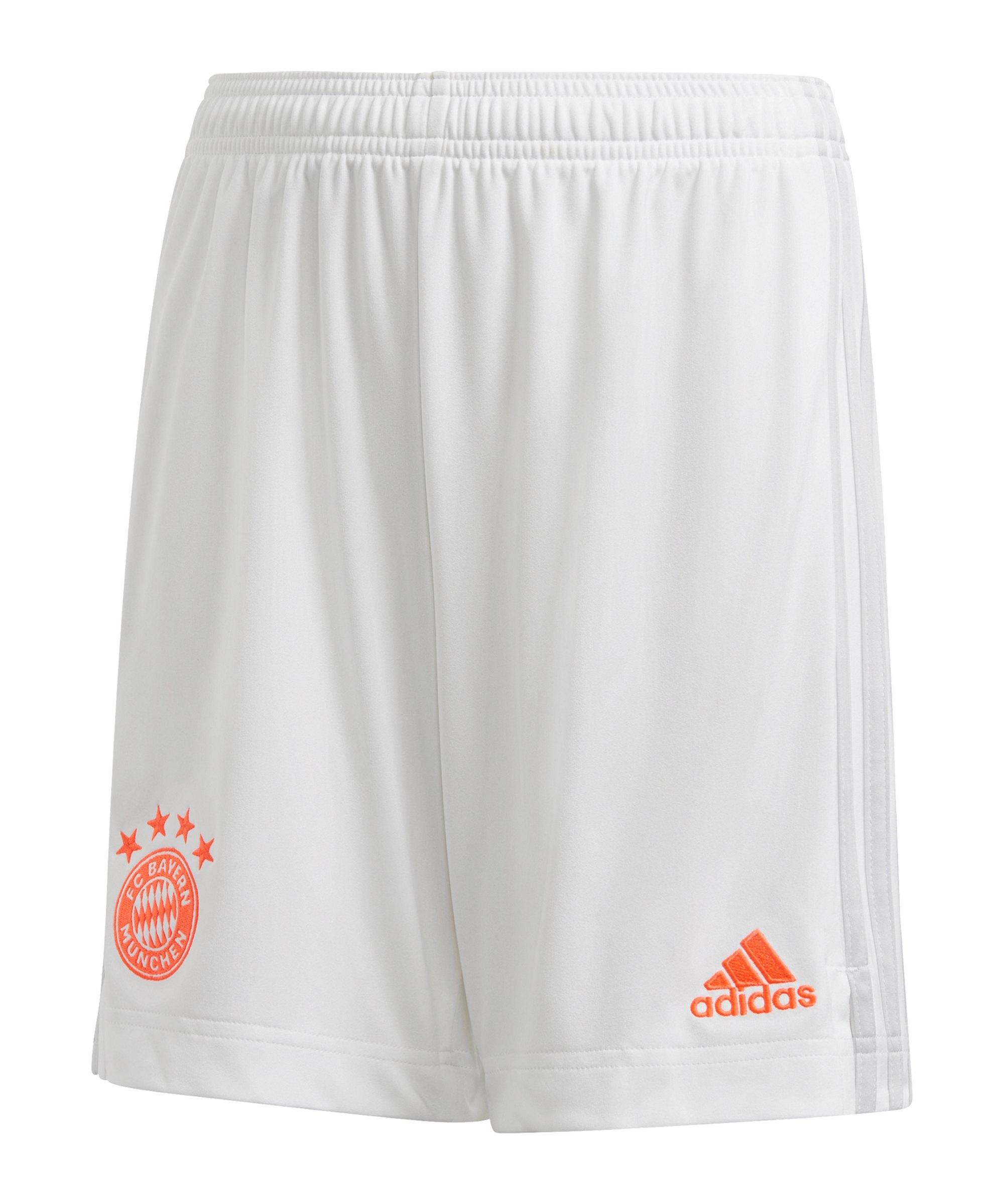 adidas FC Bayern München Short Away 2020/2021 Kids Weiss - weiss