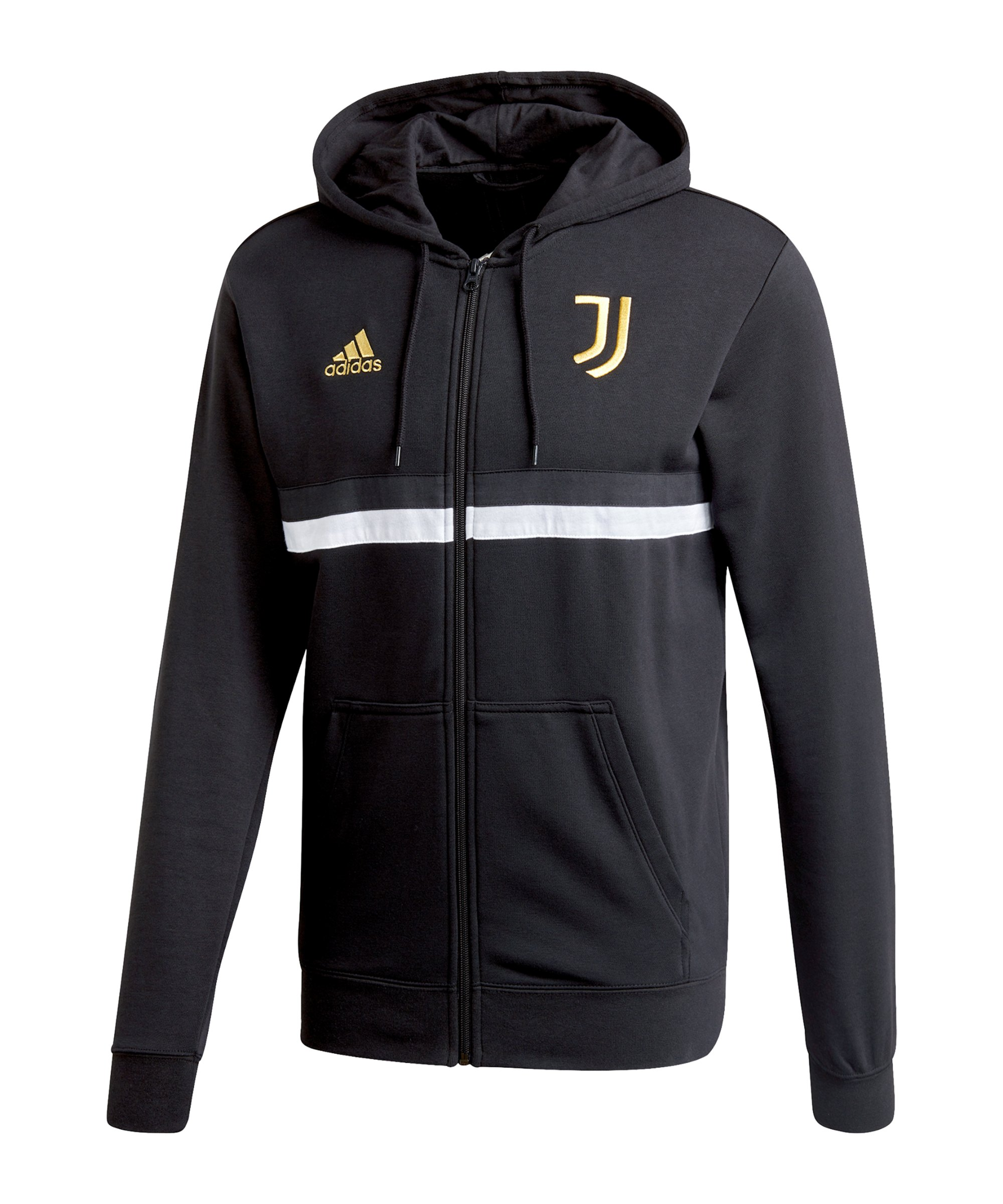 adidas Juventus Turin 3S Kapuzenjacke Schwarz - schwarz