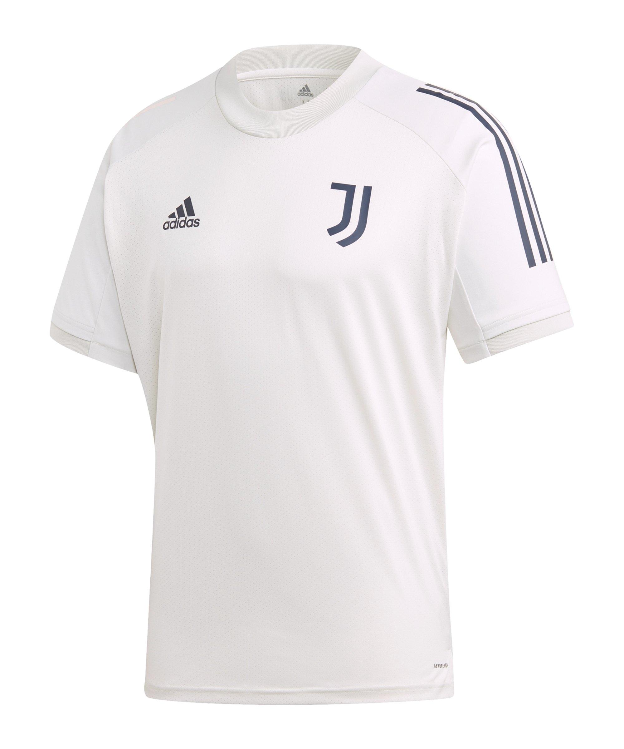 adidas Juventus Turin Trainingsshirt Grau Blau - grau