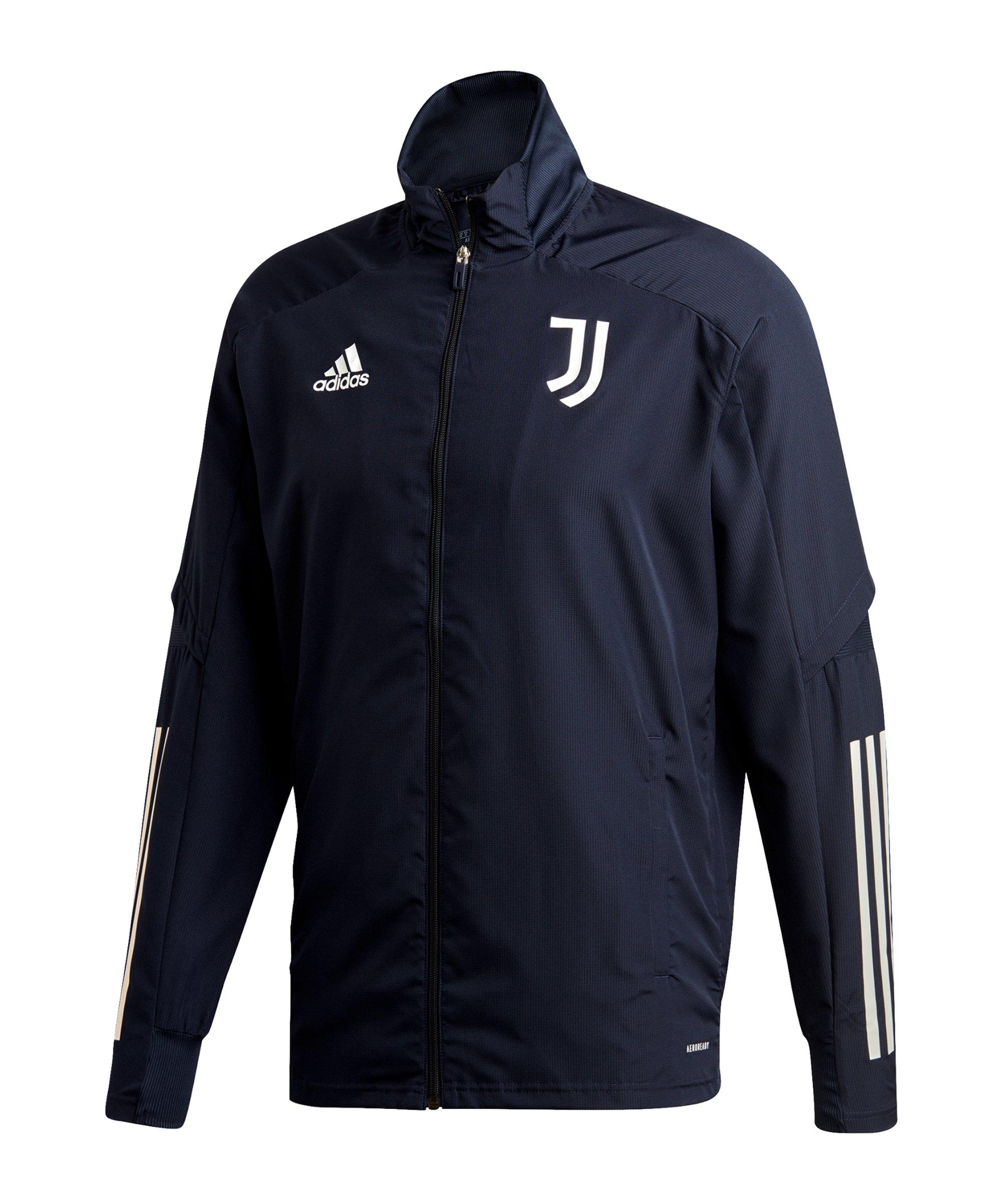 adidas Juventus Turin Präsentationsjacke Blau Grau - blau