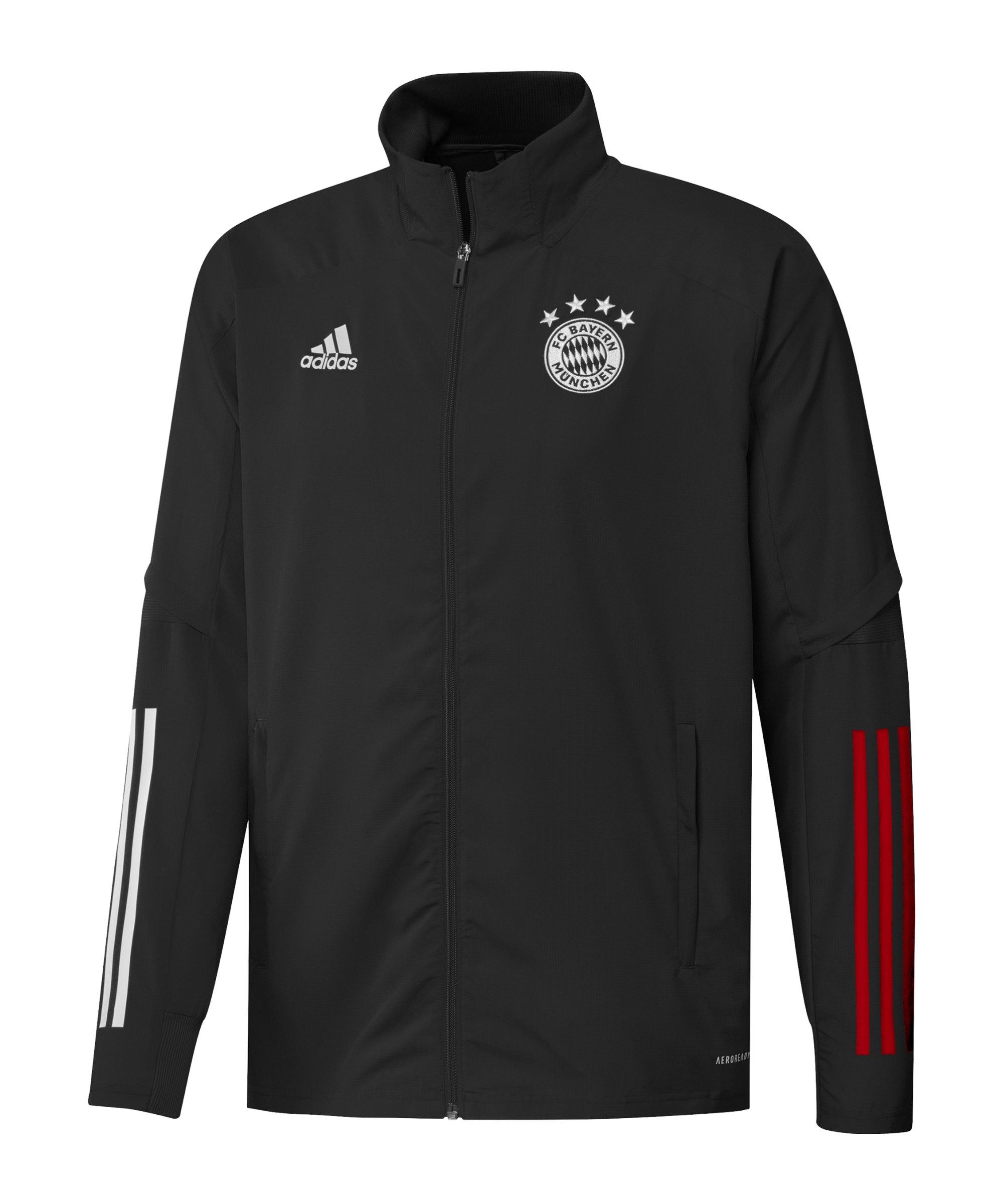 adidas FC Bayern München Präsentationsjacke - schwarz