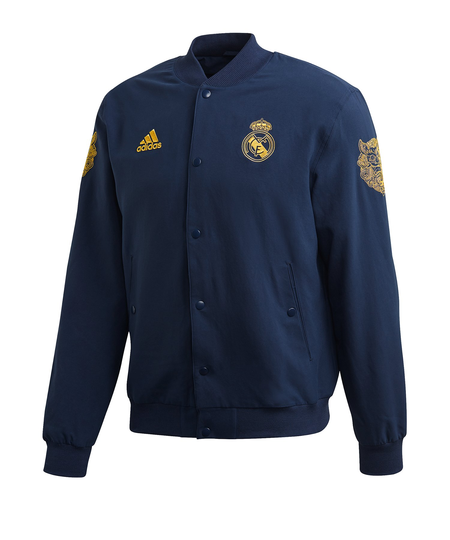 adidas Real Madrid CNY Jacke Blau - blau