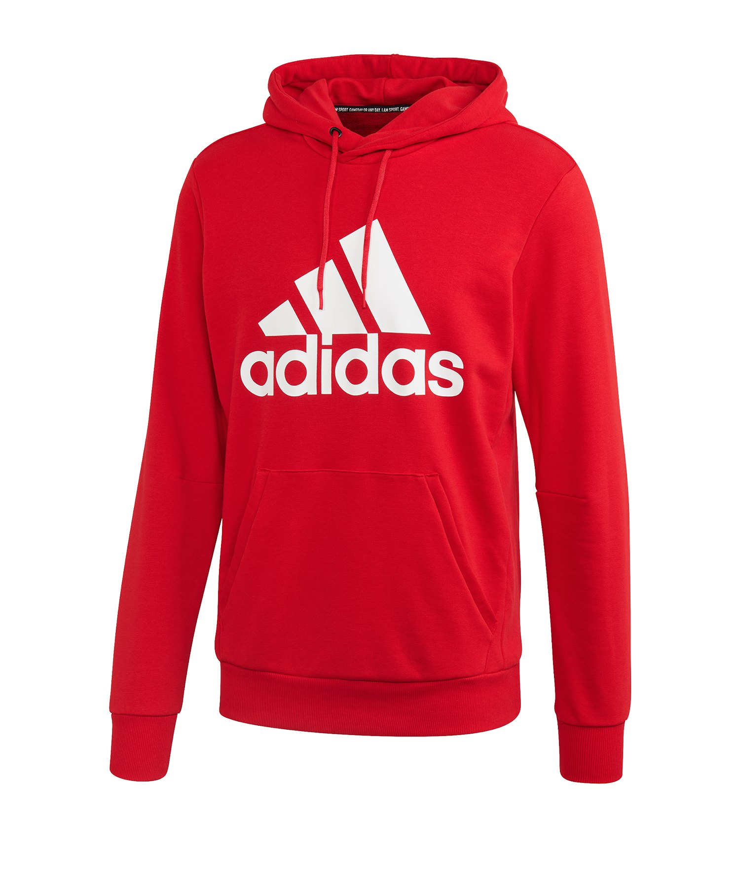 adidas MH Badge of Sport Hoody Rot Weiss - rot