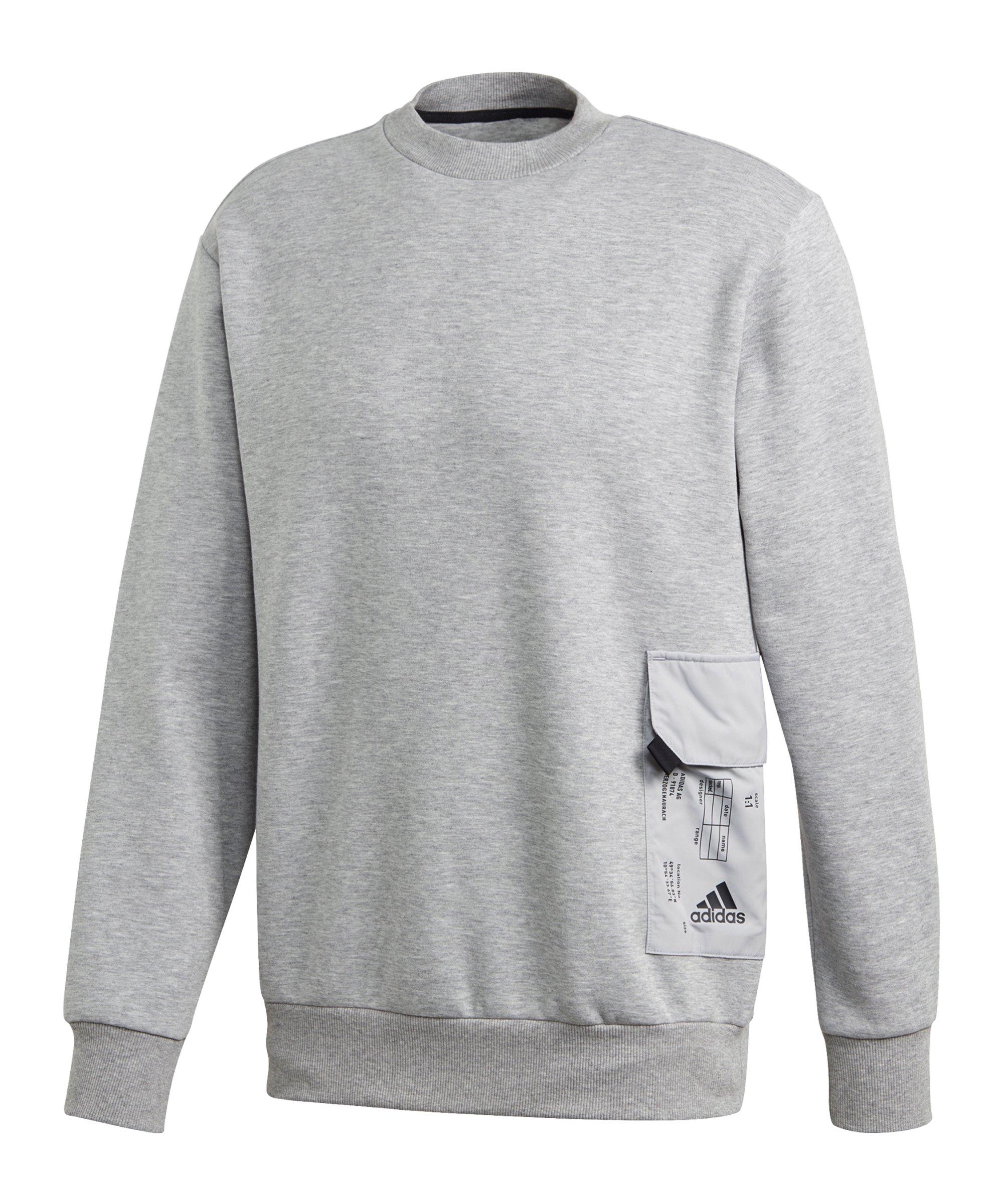 adidas Pocket Crew Sweatshirt Grau - grau